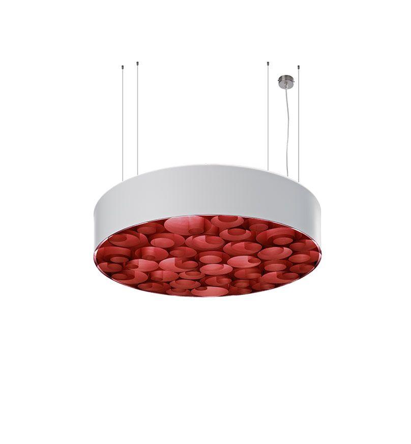 Spiro 4-Light Pendant Shade Color: White, Ballast: Multivolt, Interior Shade Color: Red