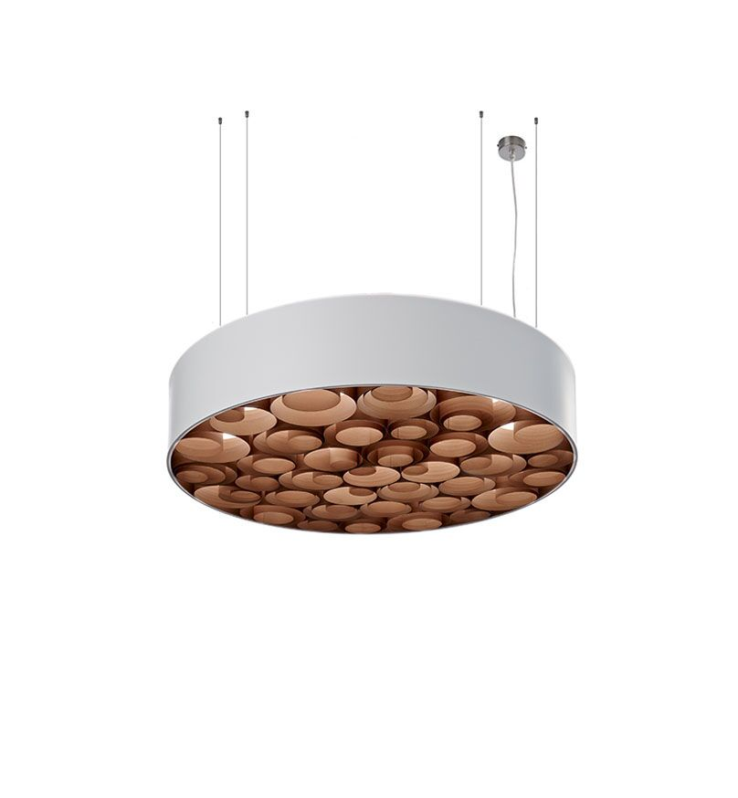 Spiro 4-Light Pendant Shade Color: White, Interior Shade Color: Chocolate, Ballast: Dimmable