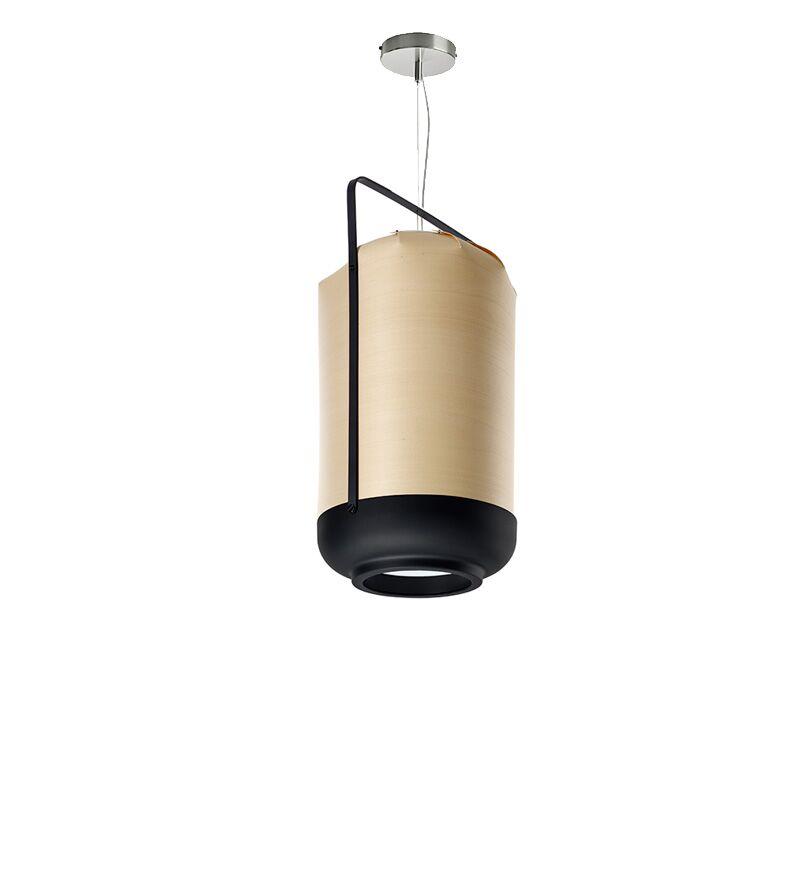 Chou 1-Light Cylinder Pendant Bulb Type: E26 Base, Finish: Natural Beech, Size: Small