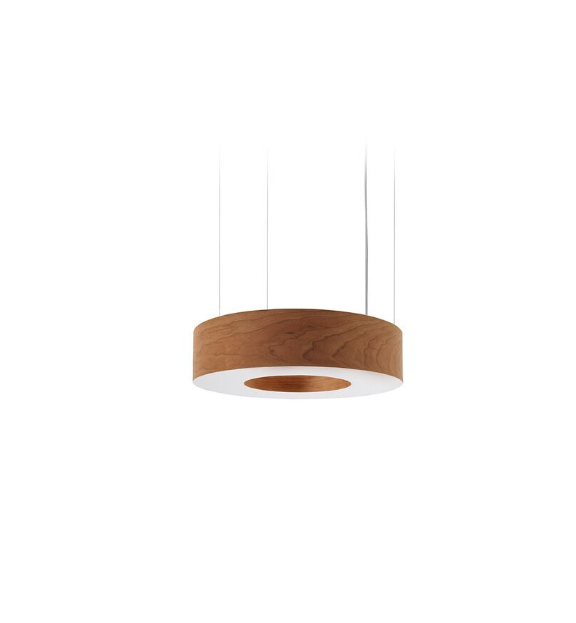 Saturnia 4-Light  LED  Pendant Shade Color: Natural Cherry