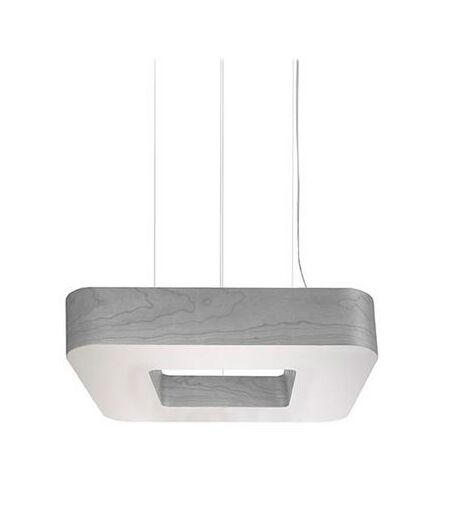 Cuad Club 8-Light LED Square/Rectangle Chandelier Shade Color: Grey
