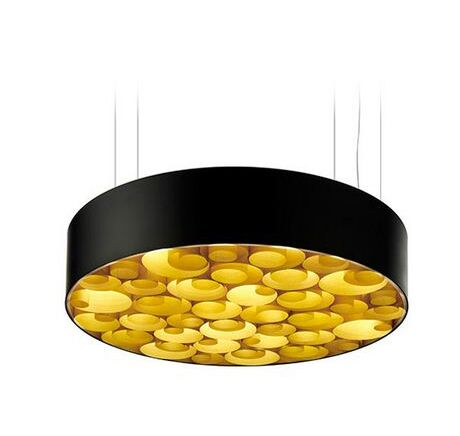 Spiro 10-Light  LED  Pendant Shade Color: Yellow