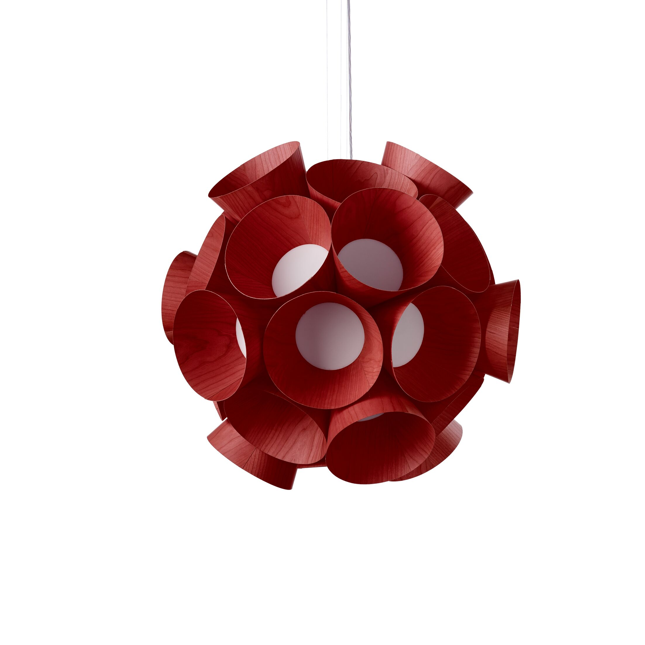 Dandelion LED Geometric Pendant Shade Color: Red