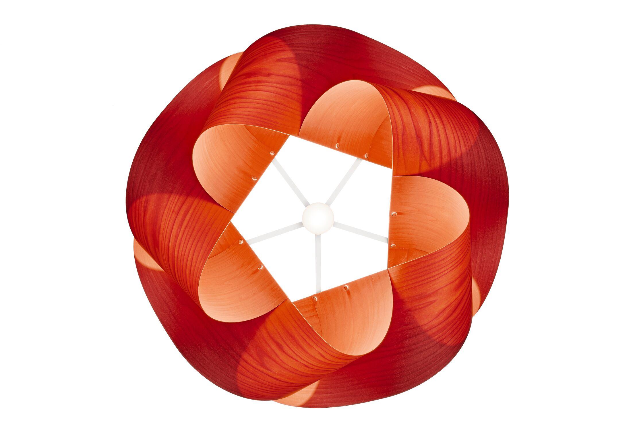 Swirl 1-Light Novelty Pendant Finish: Brushed Nickel, Shade Color: Orange