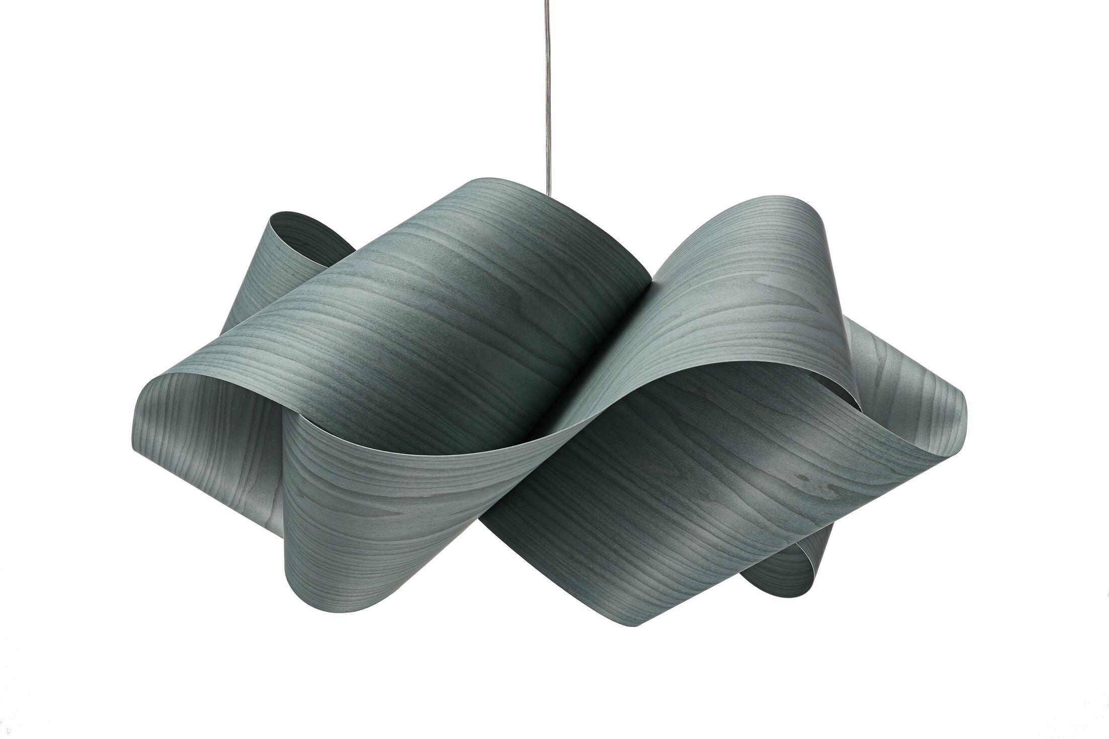 Swirl 1-Light Novelty Pendant Shade Color: Turquoise, Finish: Brushed Nickel