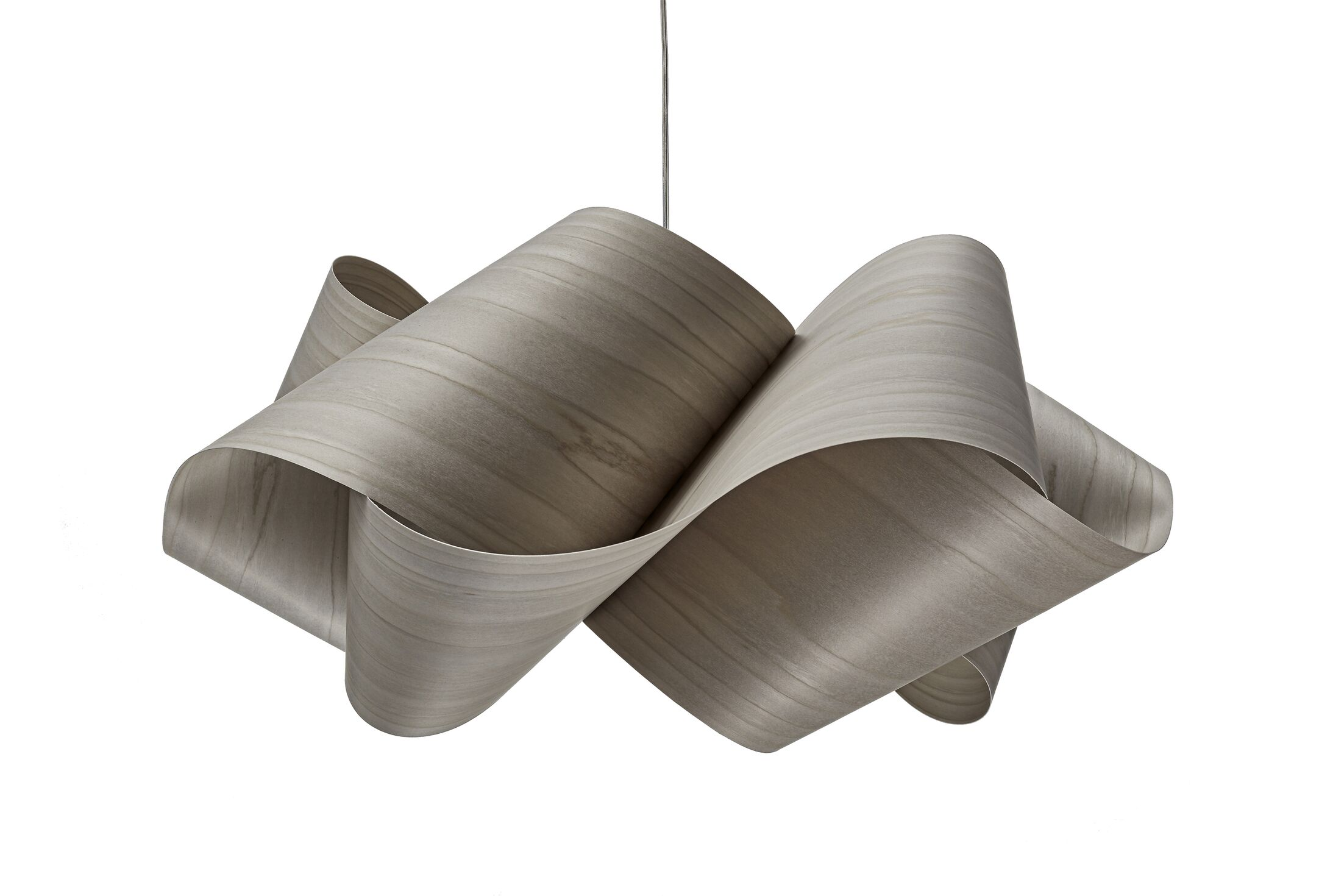 Swirl 1-Light Novelty Pendant Finish: Brushed Nickel, Shade Color: Gray, Bulb Type: E26