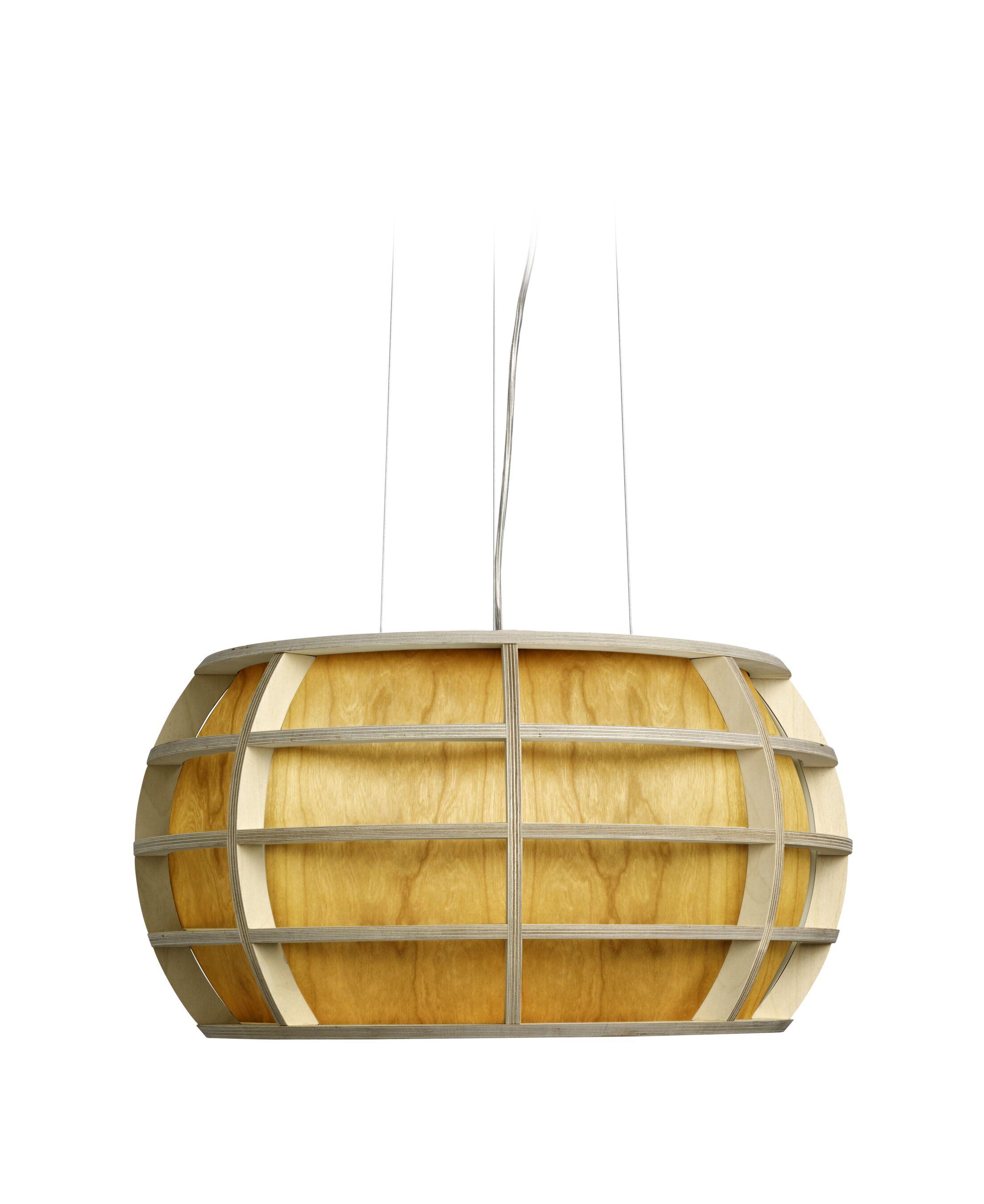 Kim 1-Light Drum Pendant Shade Color: Yellow