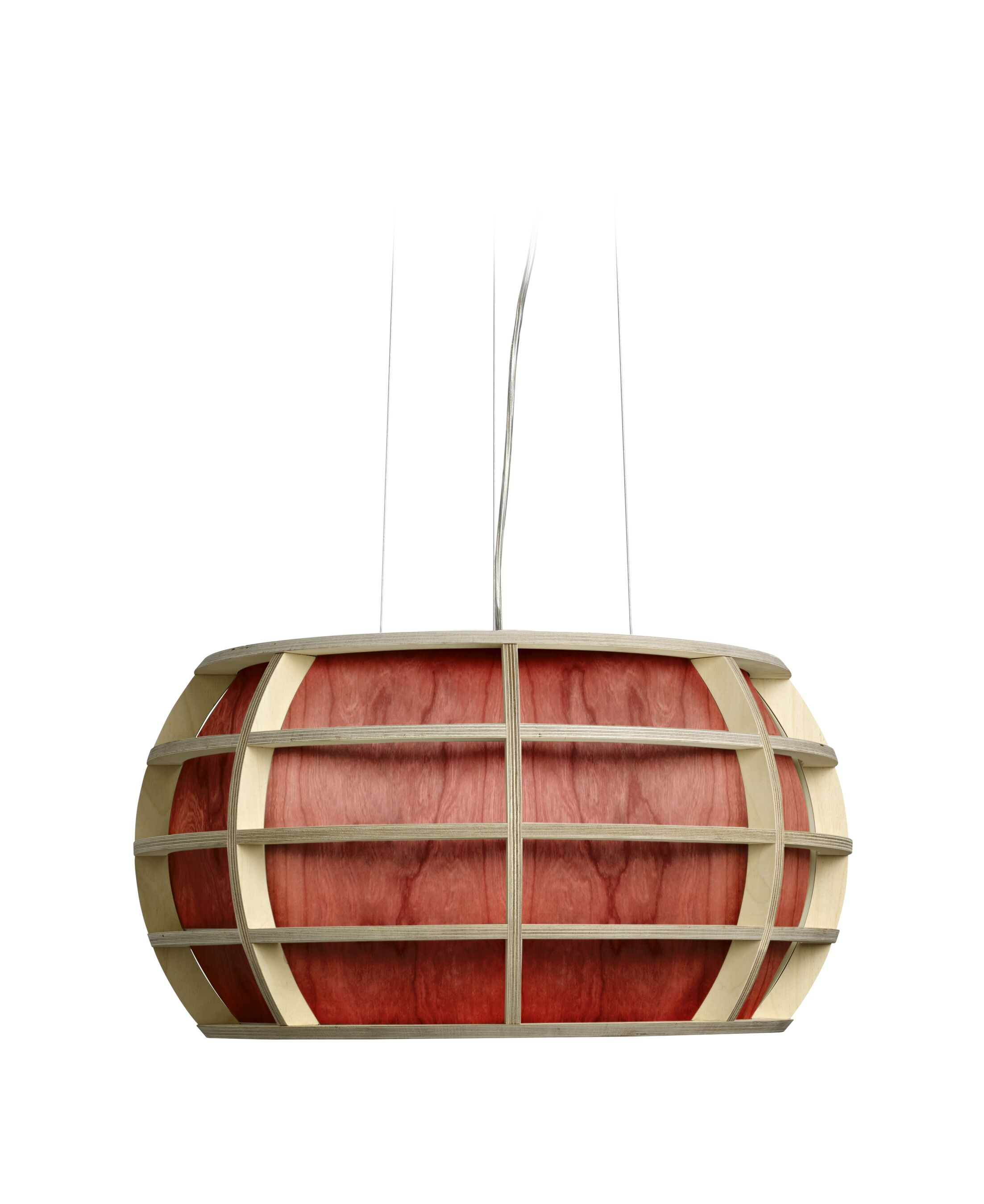 Kim 1-Light Drum Pendant Shade Color: Red