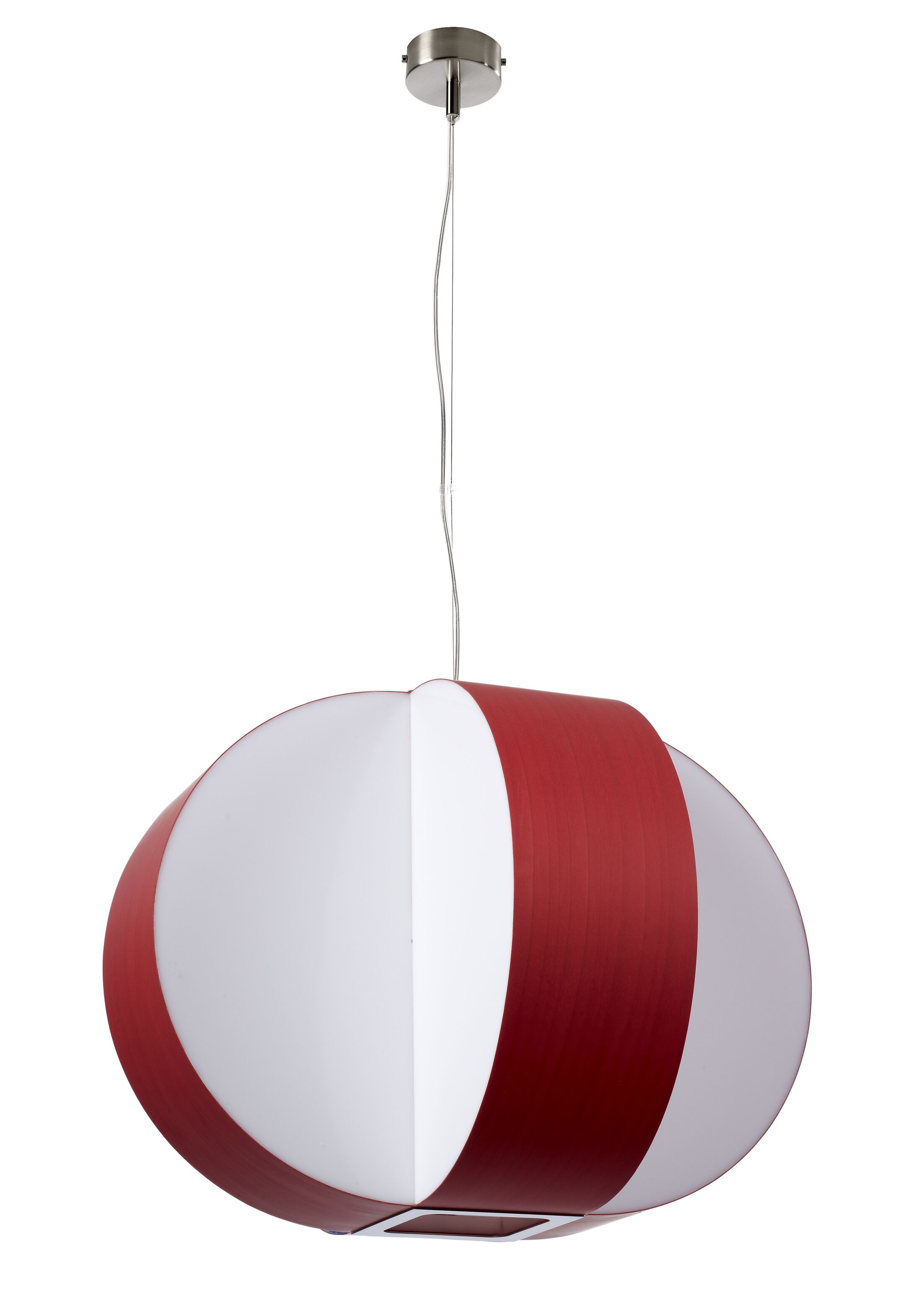Carambola 4-Light Pendant Shade Color: Red