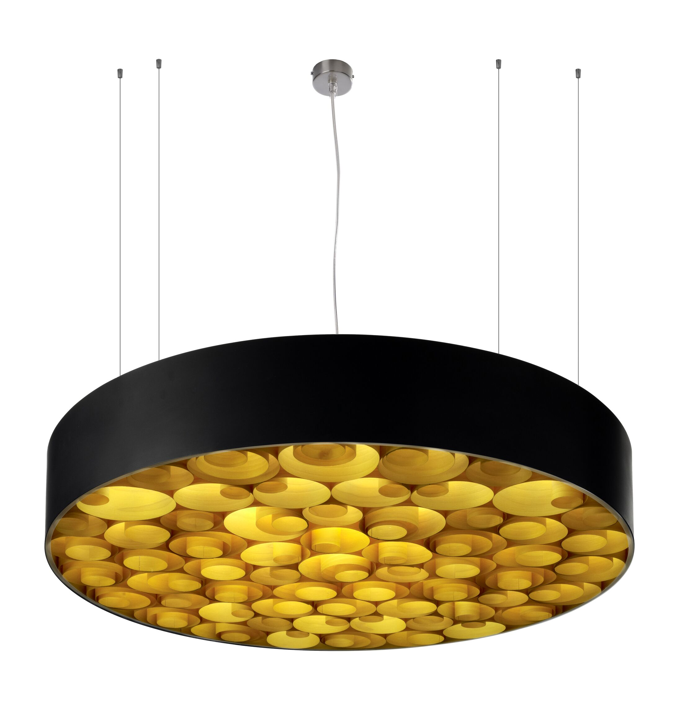 Spiro 9-Light Pendant Shade Color: Yellow