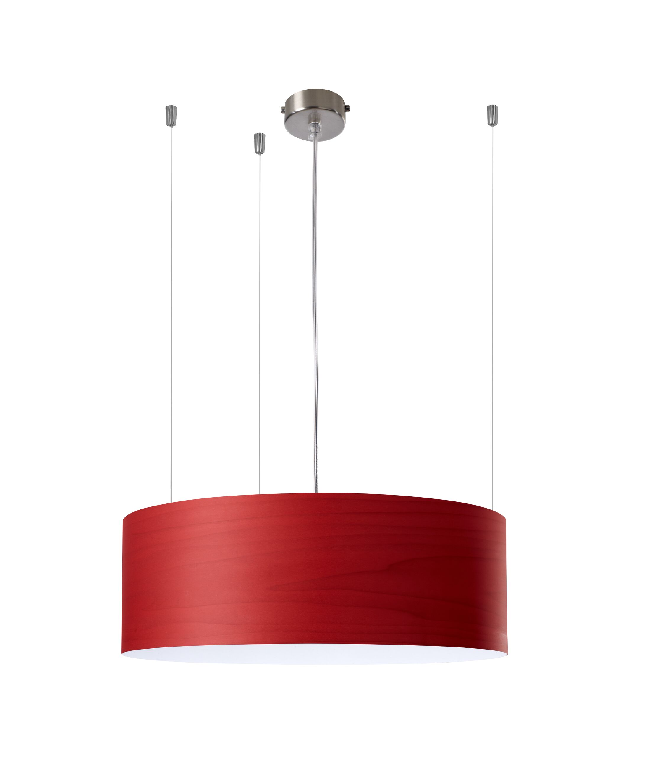 Gea 1-Light Pendant Features: 277V Ballast, Finish: Red