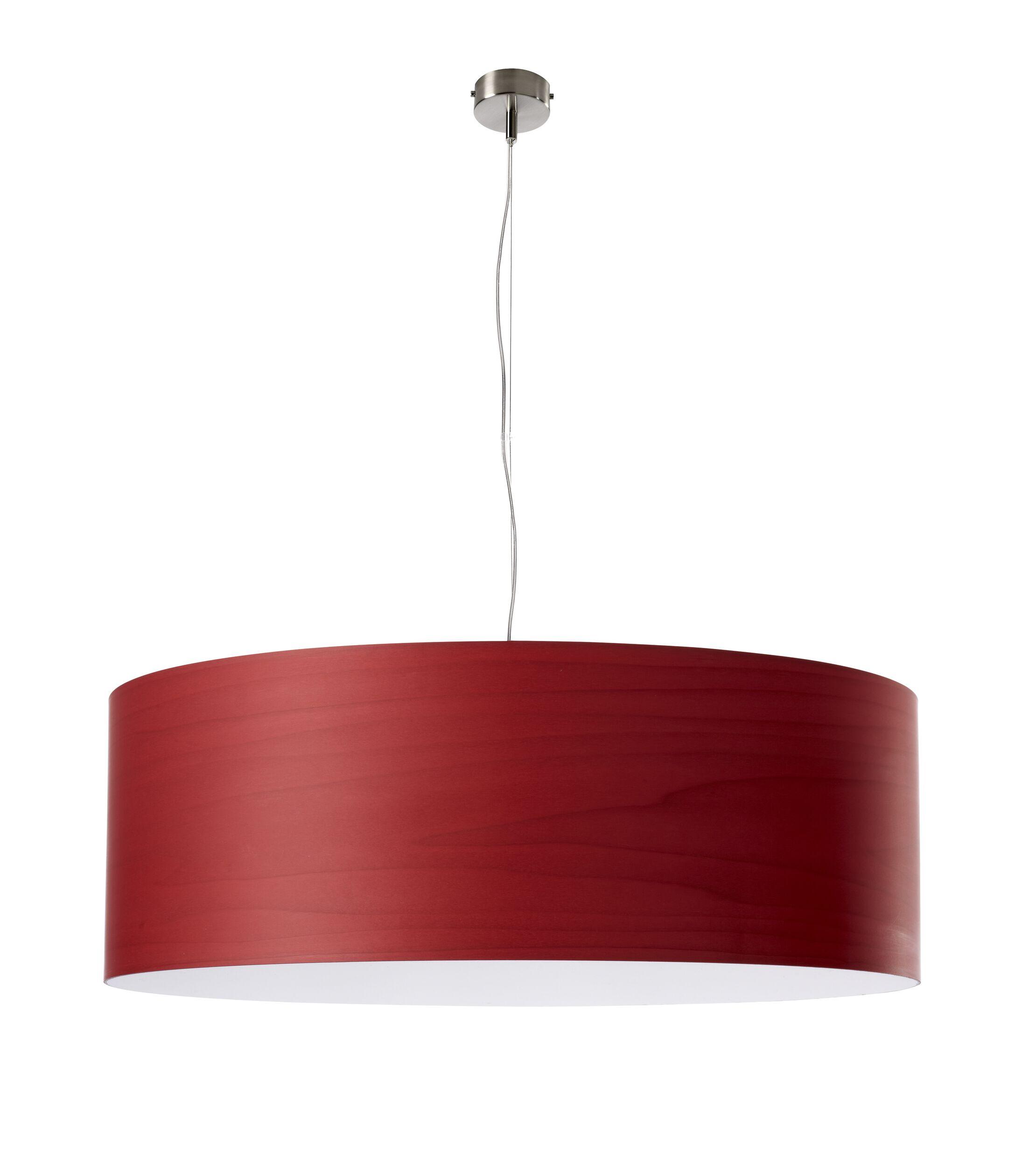 Gea 1-Light Pendant Finish: Red, Bulb Type: E26 Base, Size: 7.8