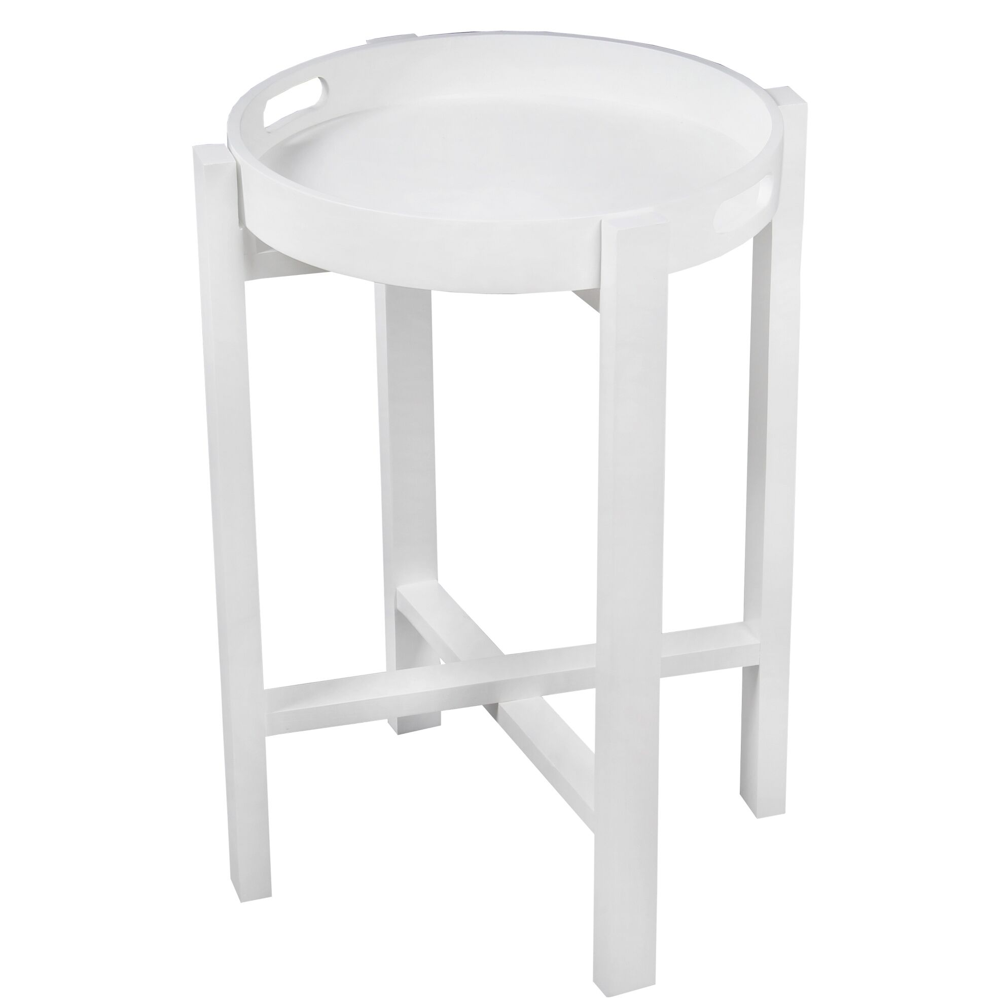 Aledo Tray Table Color: White