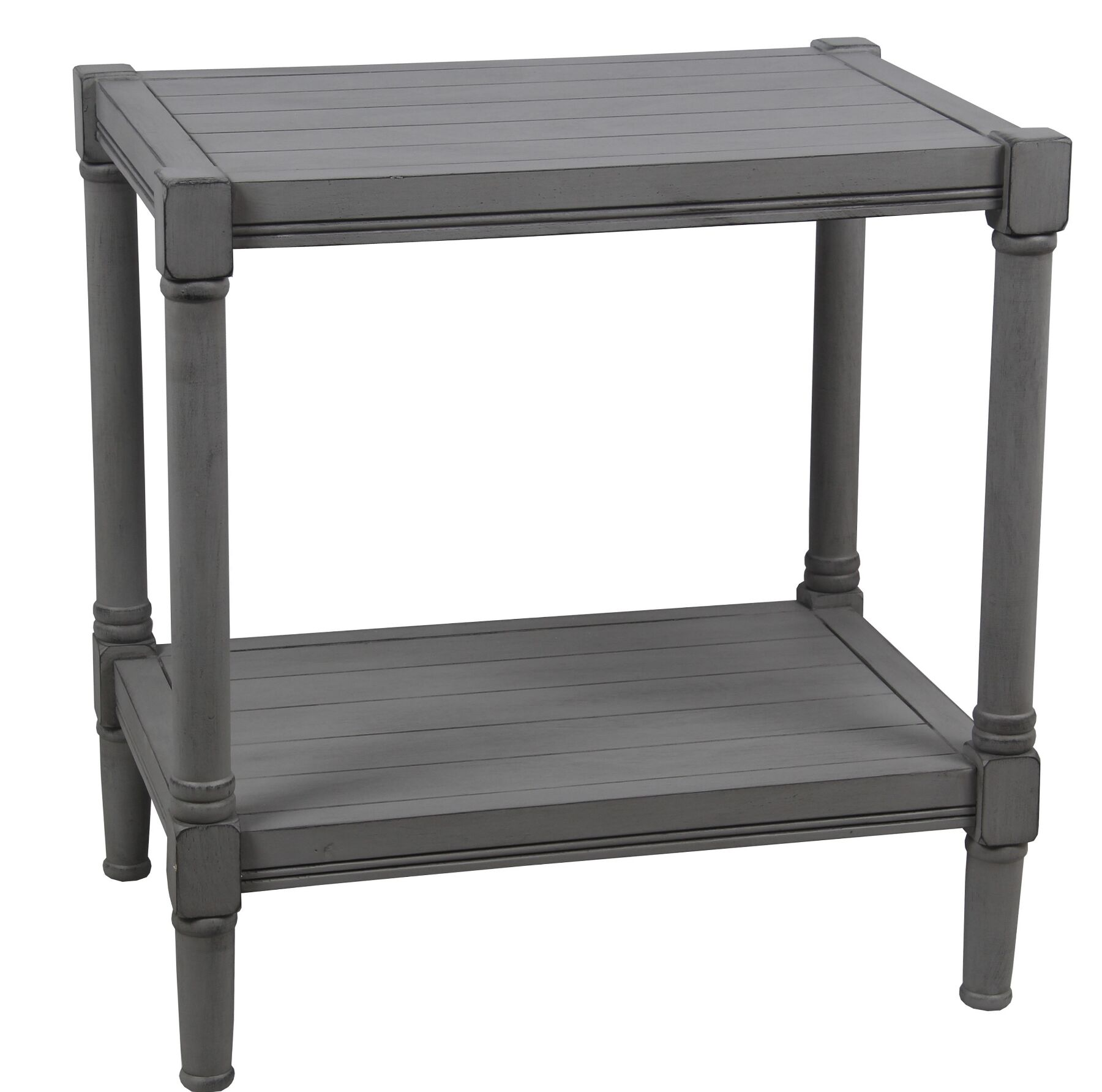 Aleshire End Table Color: Gray