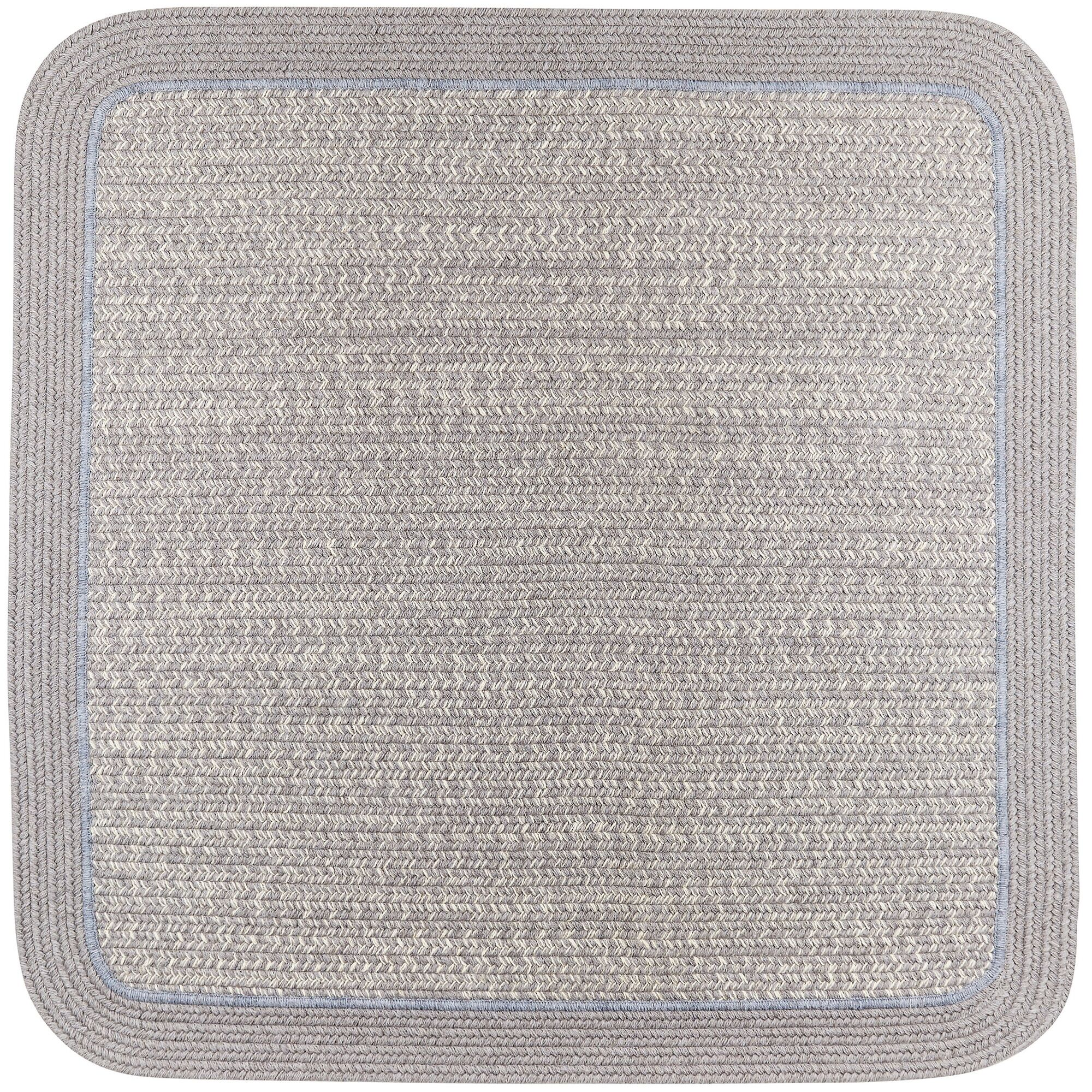 Browdy Braided Silvermist Area Rug Rug Size: Square 4'