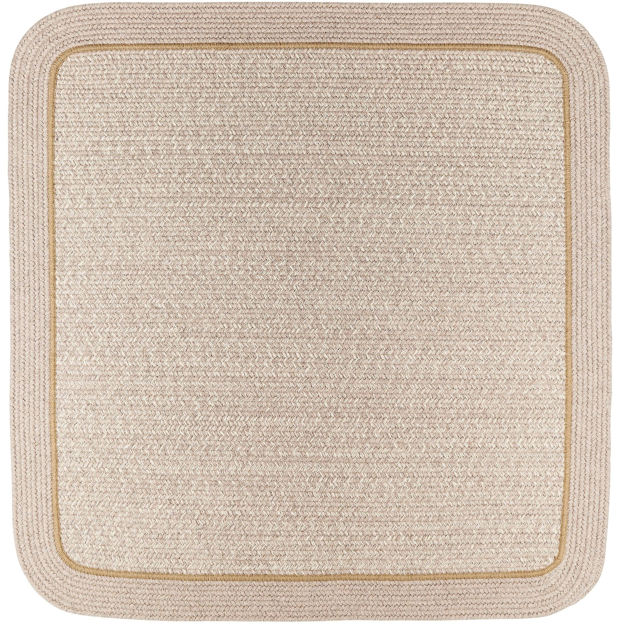 Browdy Banded Sesame Area Rug Rug Size: Square 4'