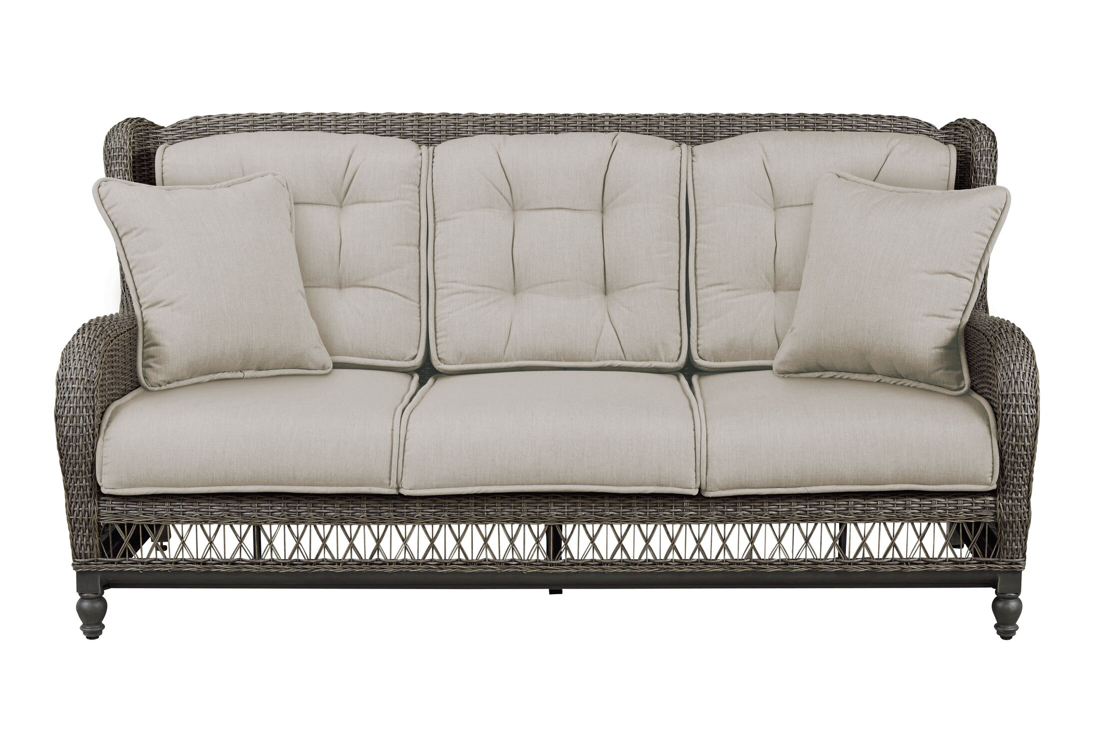 Dogwood Sofa with Cushions Fabric: Sailcloth Space