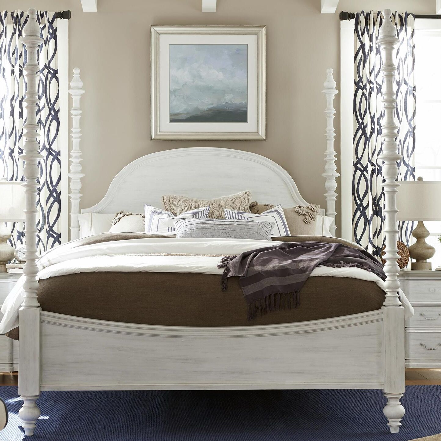 Dogwood Panel Headboard Size: King, Color: Blossom White