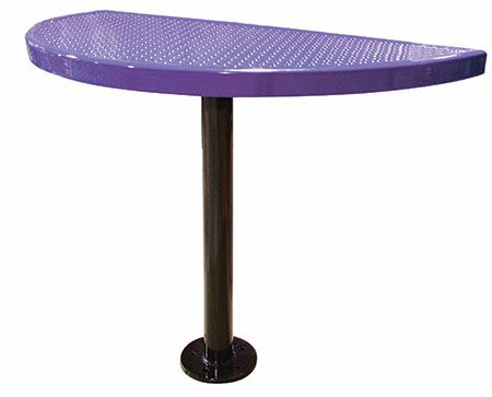 Bar Table Finish: Purple, Table Size: 40