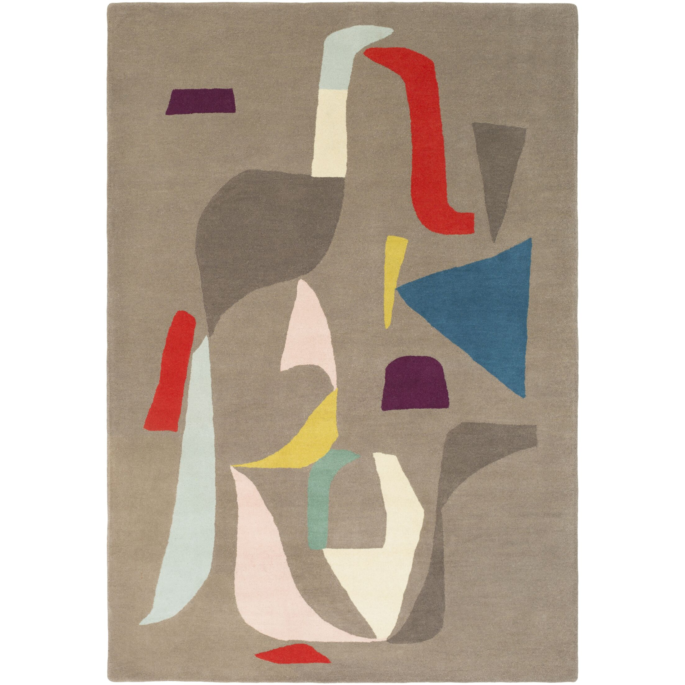 Estella Hand-Tufted Neutral/Gray Area Rug Rug Size: Rectangle 5' x 7'6