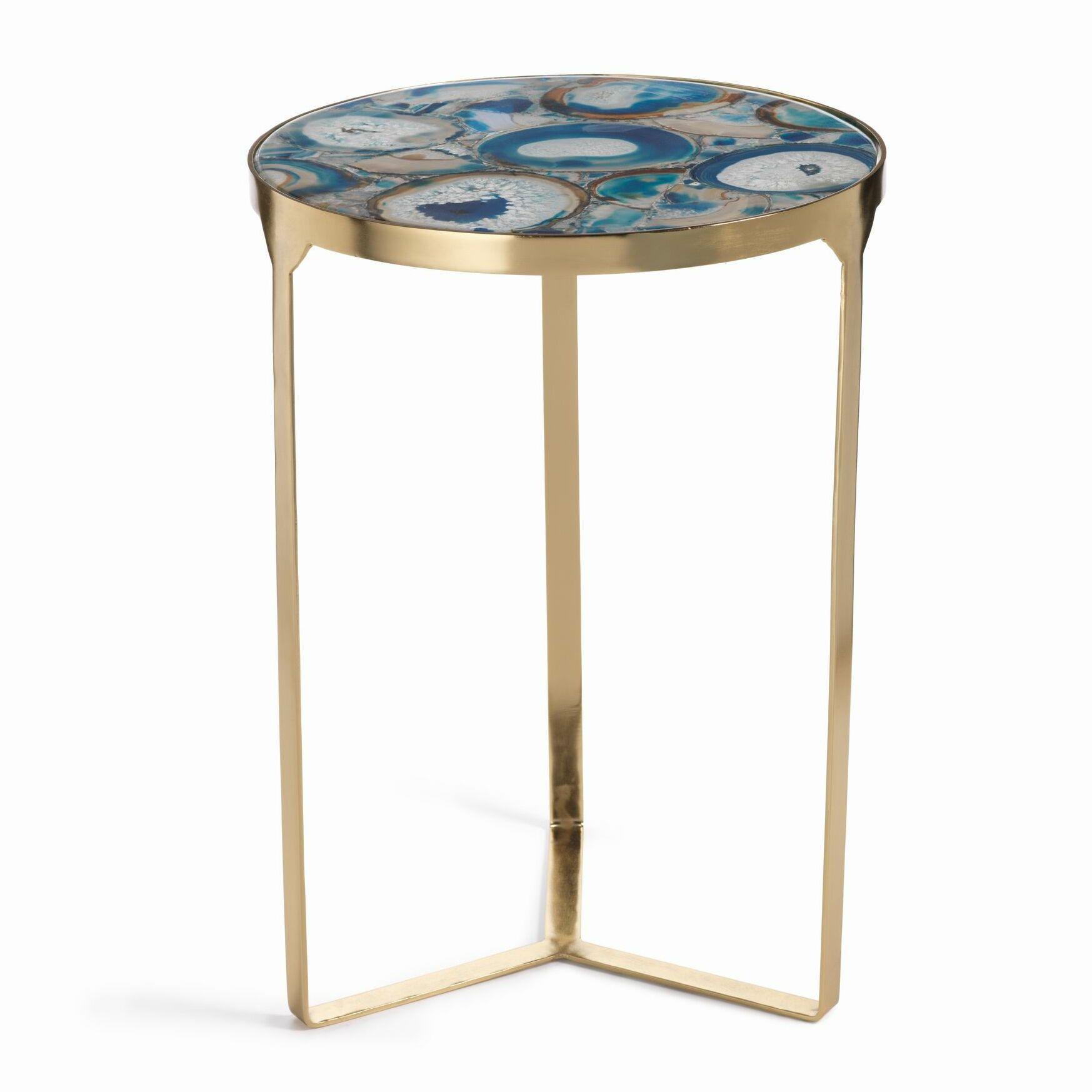 La Sardaigne 20-inch Tall Brass End Table