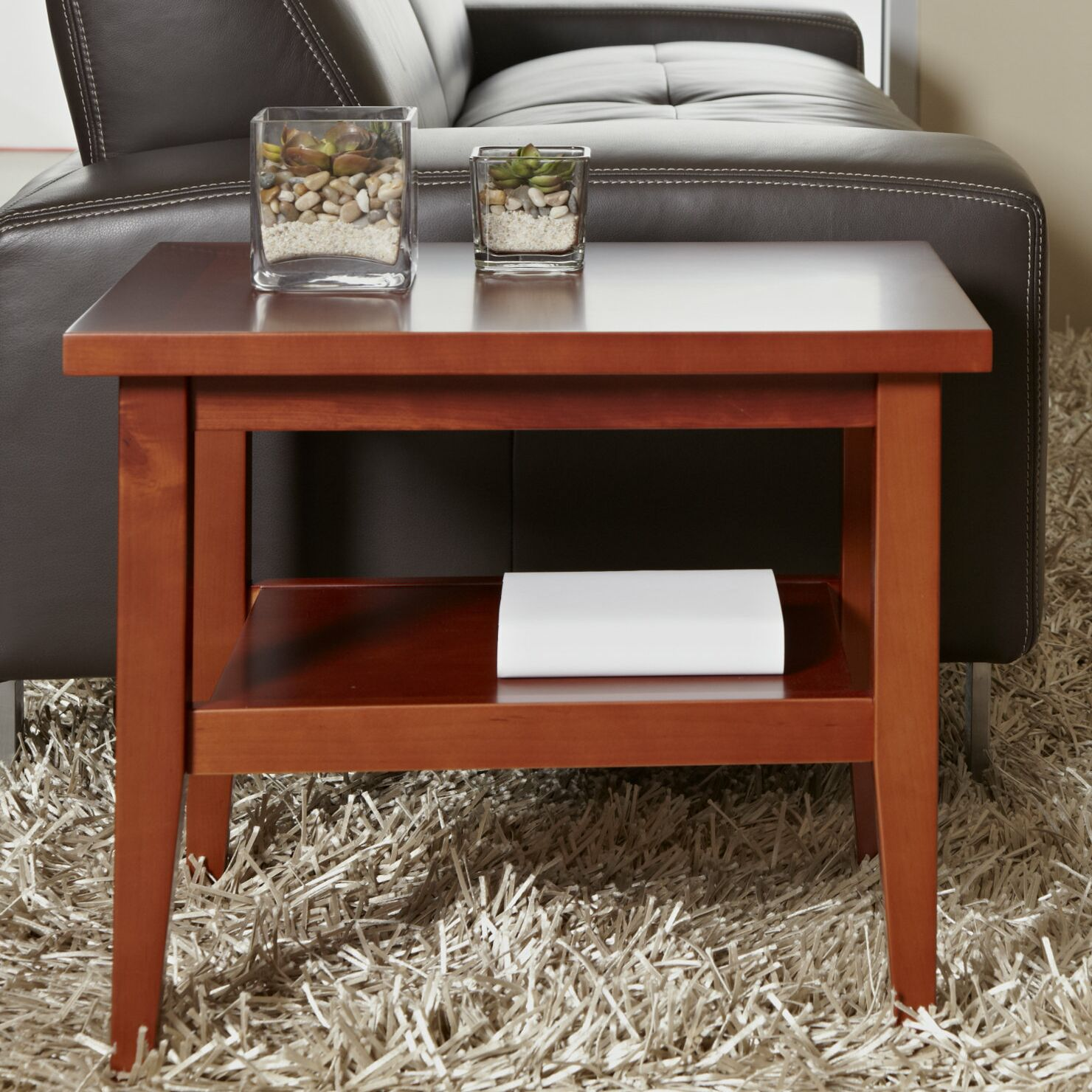 Wood End Table Color: Cherry