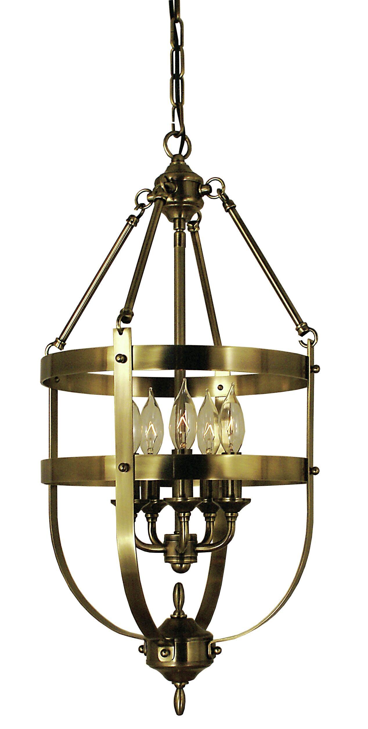 Hannover 5-Light Urn Pendant Color: Mahogany Bronze