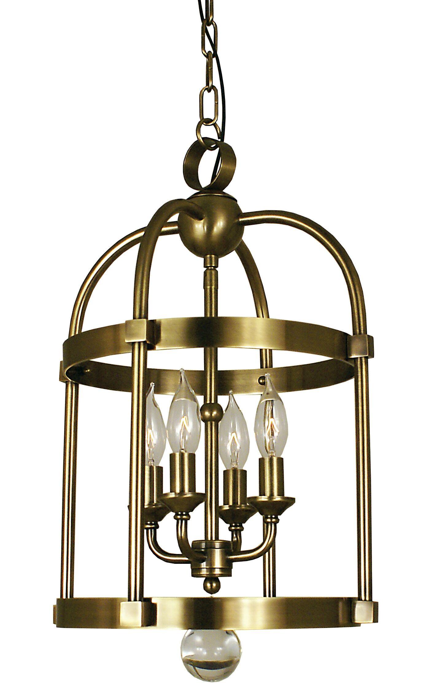 Compass 4-Light Foyer Pendant Color: Mahogany Bronze