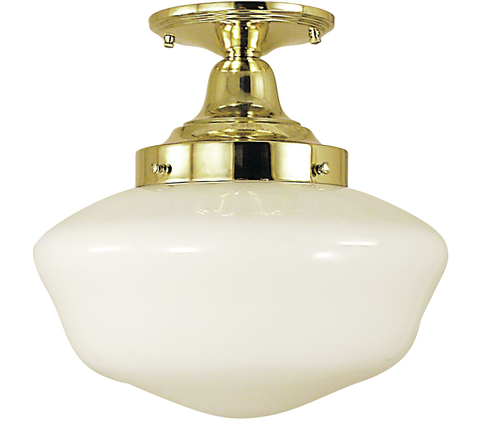 Taylor 1-Light Semi Flush Mount Color: Mahogany Bronze, Size: 12