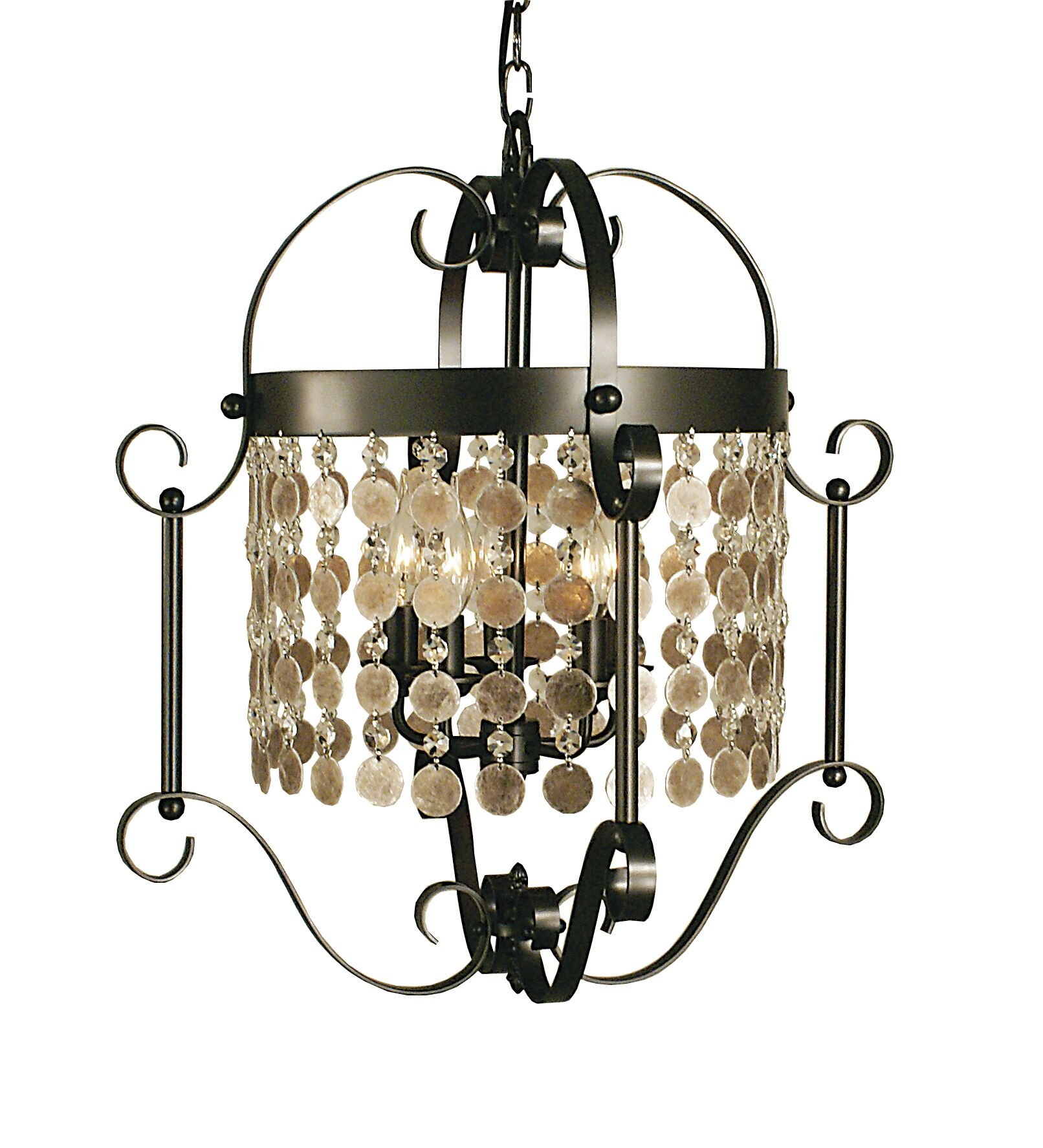 Naomi 5-Light Lantern Pendant Color: Mahogany Bronze