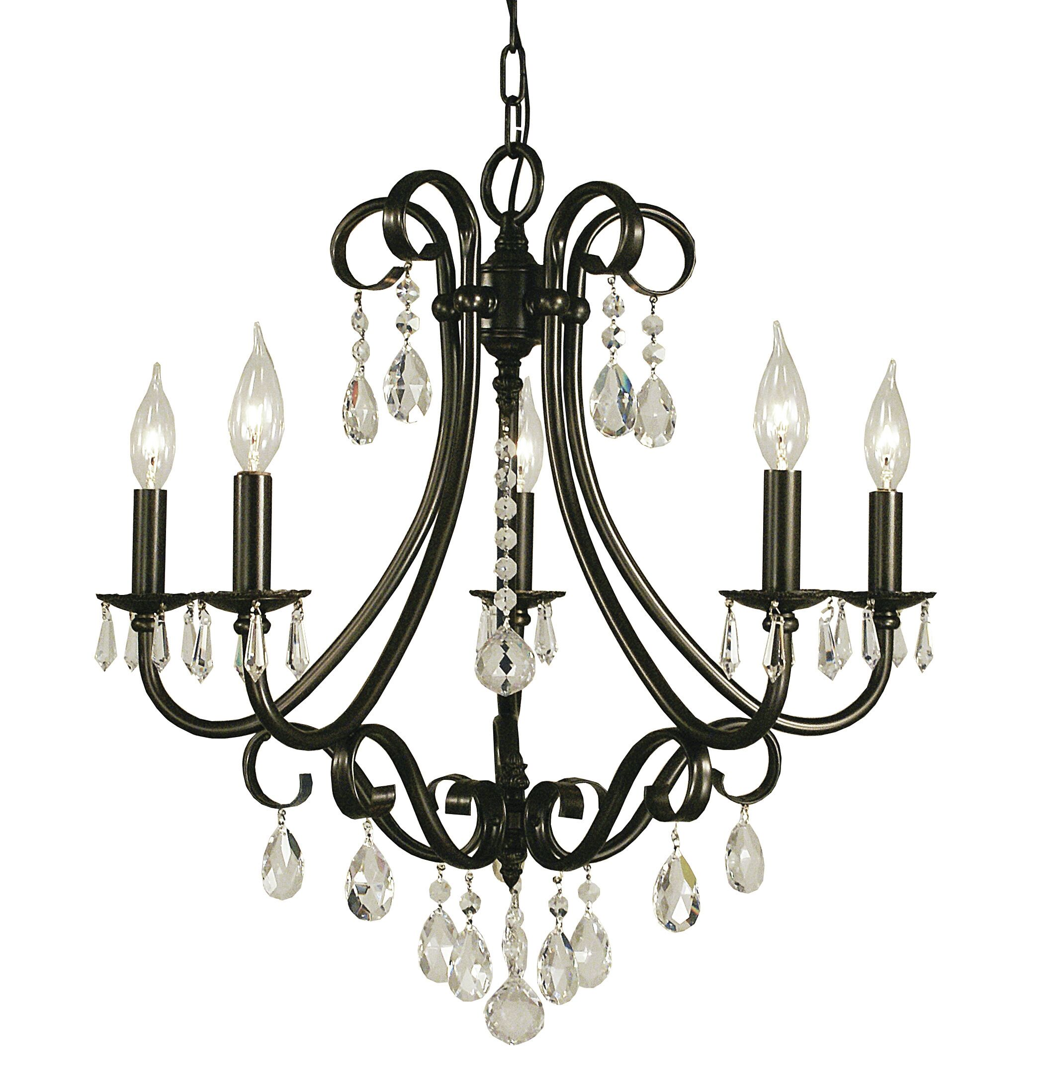 Liebestraum 5-Light Candle Style Chandelier Color: Matte Black