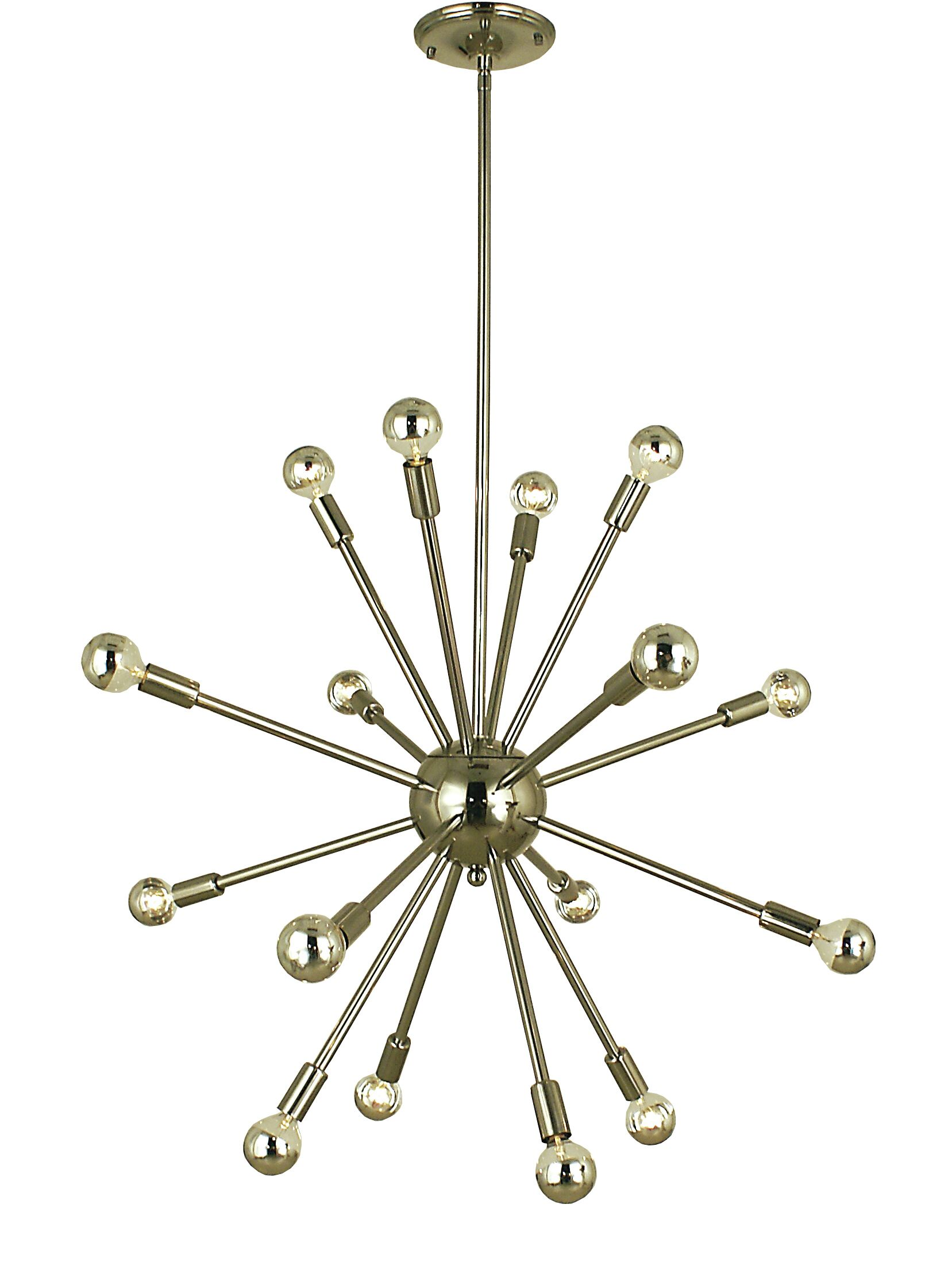 Simone 16-Light Chandelier Color: Polished Nickel