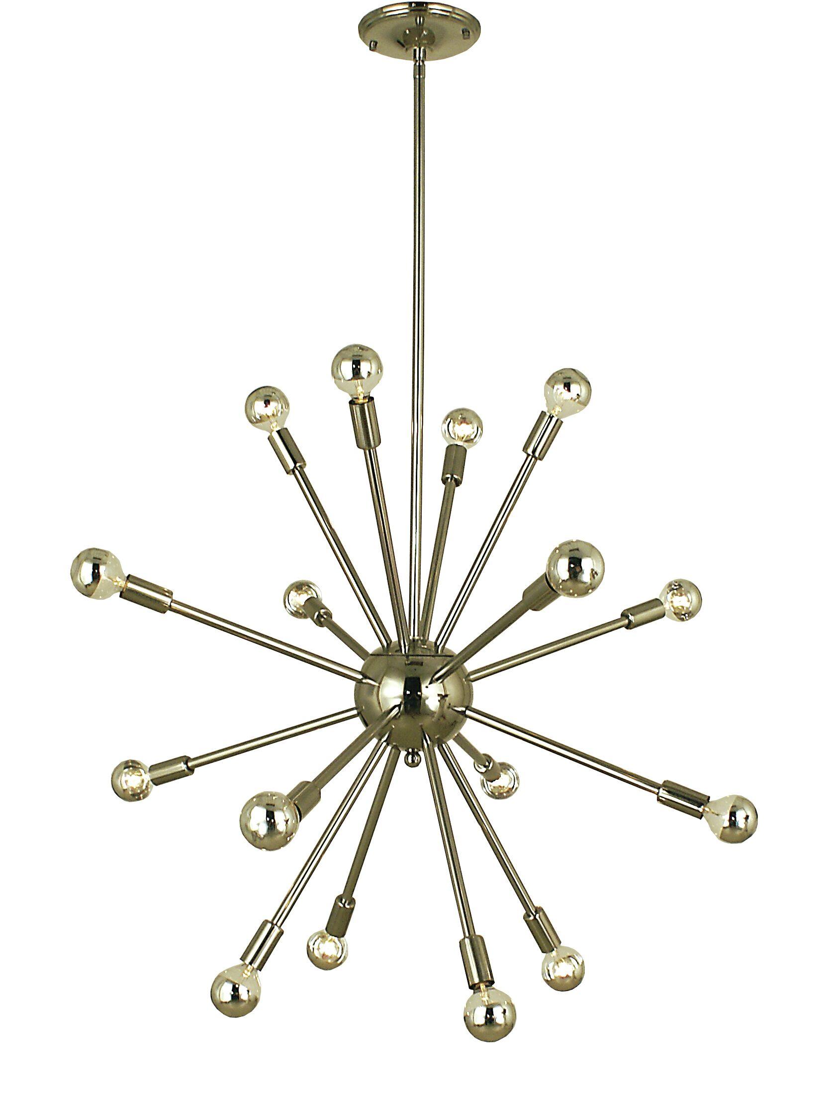 Simone 16-Light Chandelier Color: Brushed Nickel