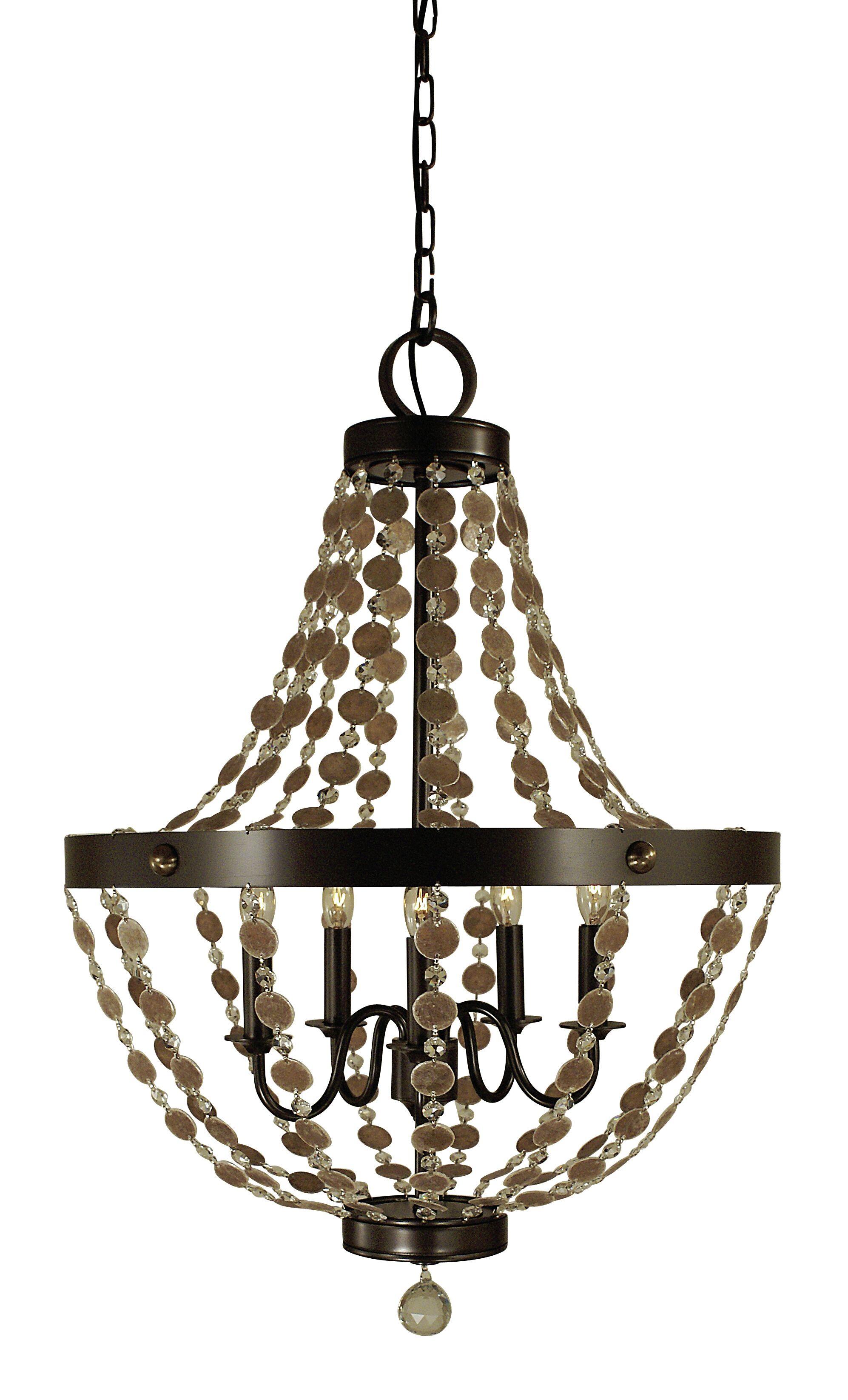 Naomi 5-Light Chandelier Color: Antique Brass