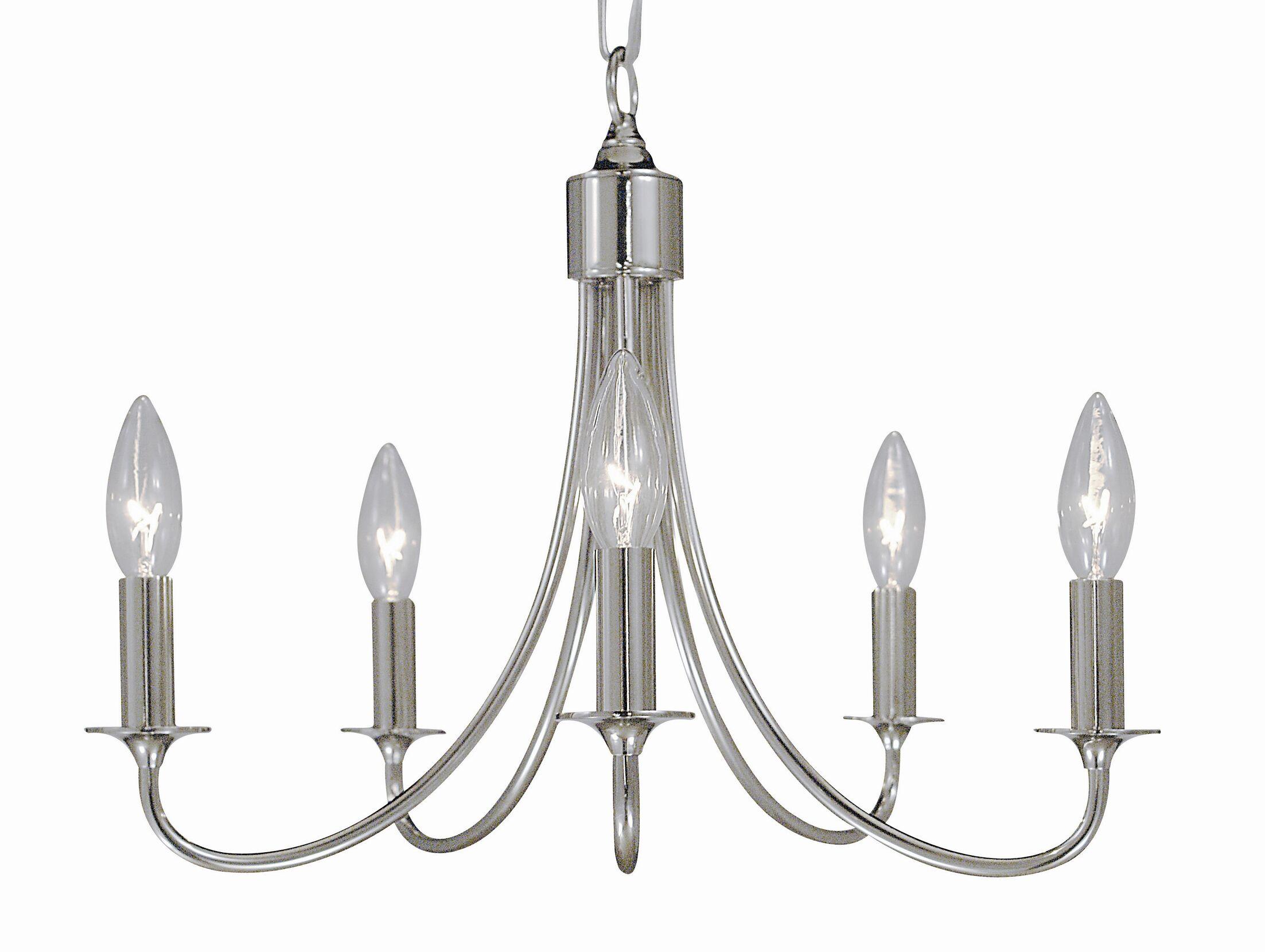 Maisonette 5-Light Chandelier Color: Polished Silver
