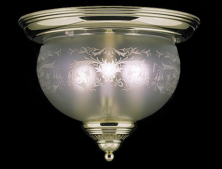 Chancery 3-Light Flush Mount Color: Polished Brass
