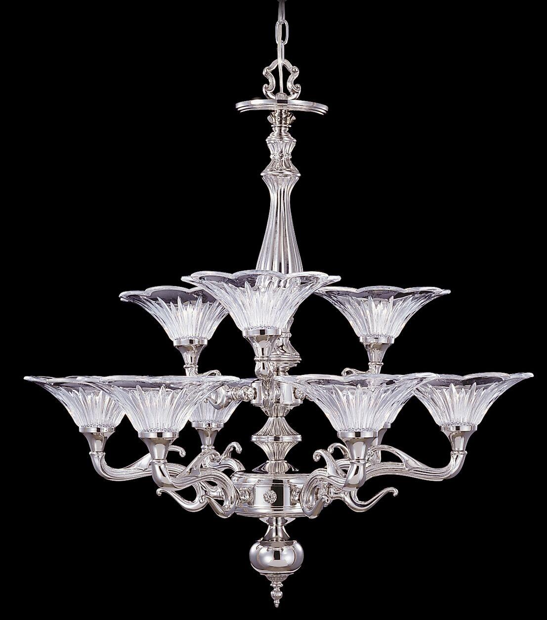 Geneva 9-Light Shaded Chandelier Color: Mahogany Bronze