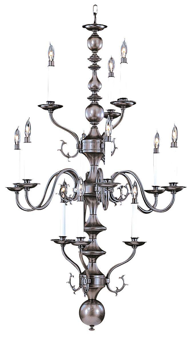 Jamestown 12-Light Chandelier Color: Mahogany Bronze