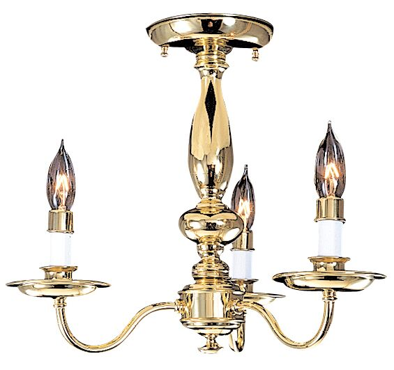 Jamestown 3-Light Candle Style Chandelier Color: Polished Brass