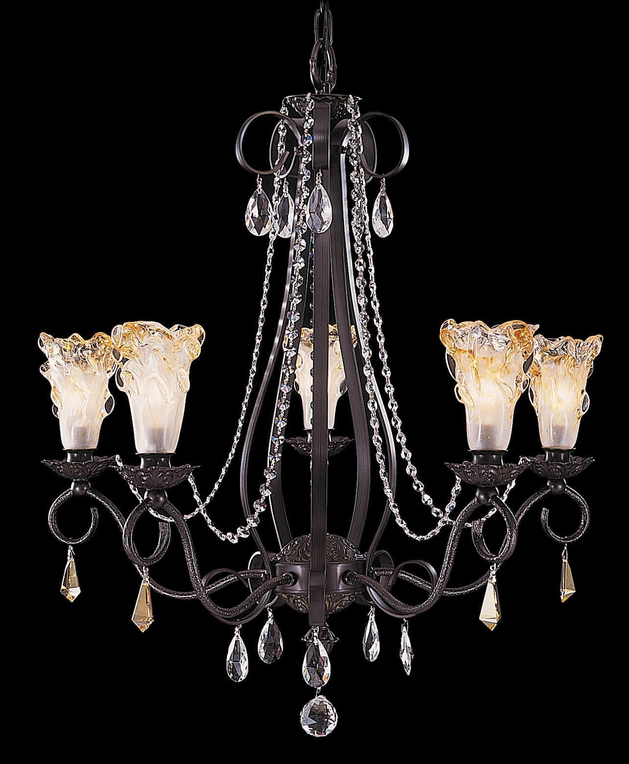 Rhapsody 5-Light Shaded Chandelier