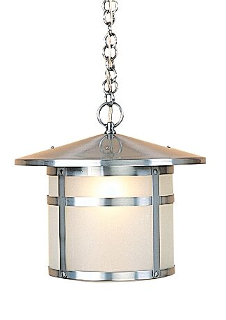 Berkeley 1-Light Lantern Pendant Shade Color: Off White, Size: 10.13