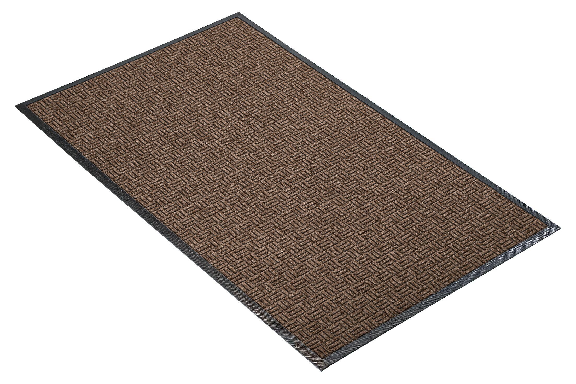 Portrait Doormat Mat Size: Rectangle 3' x 10', Color: Brown