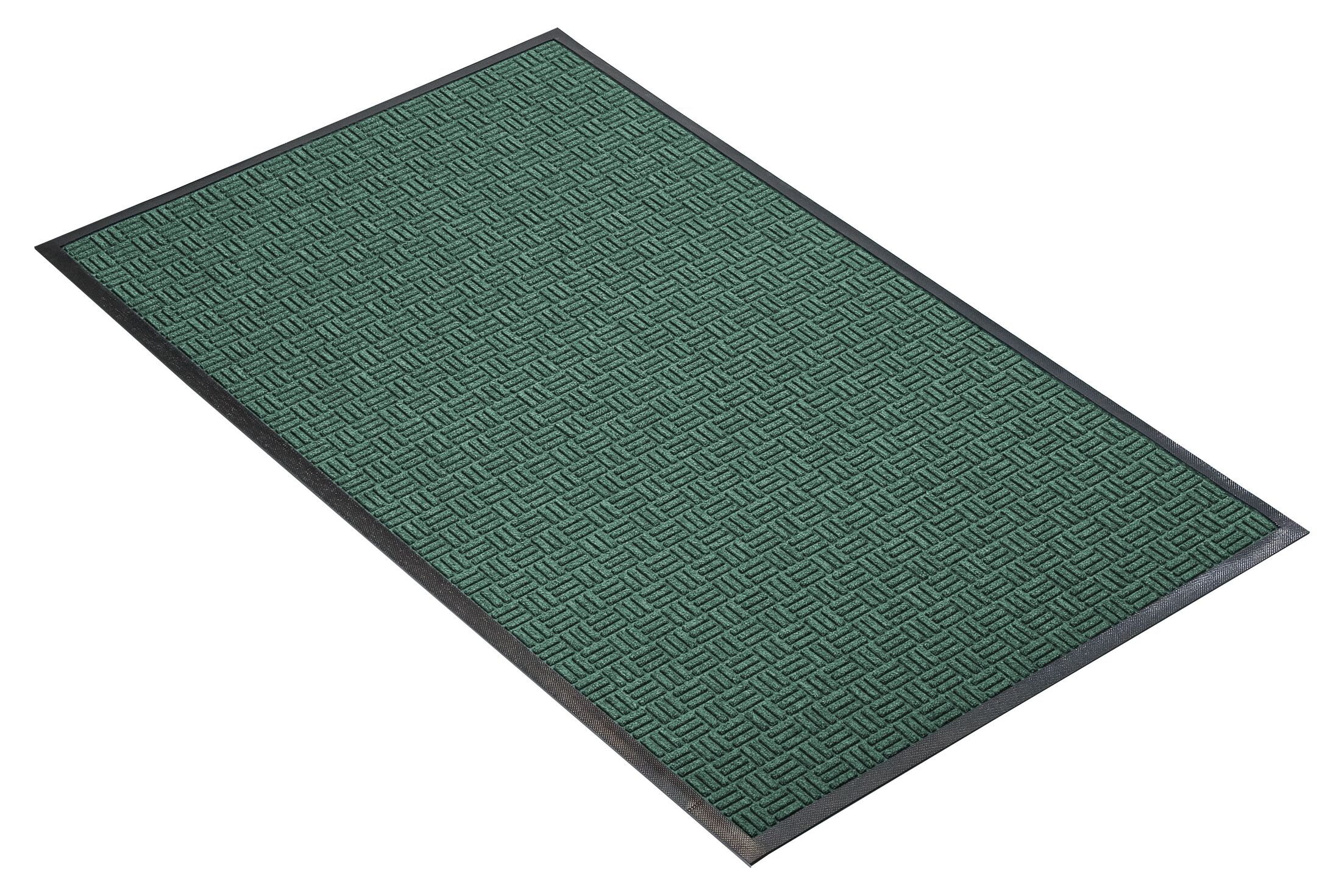 Portrait Doormat Mat Size: Rectangle 4' x 10', Color: Hunter Green