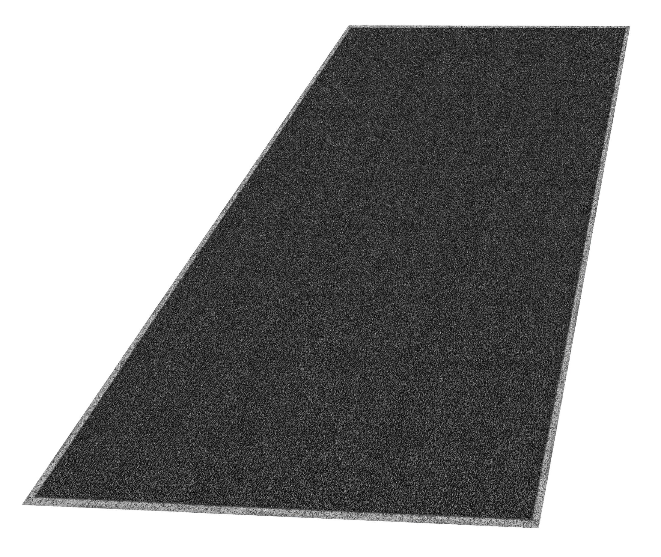 Solid Doormat Mat Size: Rectangle 3' x 5', Color: Black