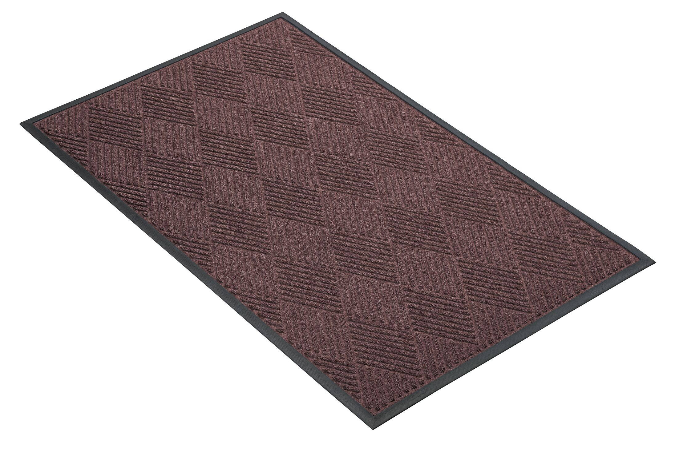 Opus Doormat Mat Size: Rectangle 3' x 10', Color: Charcoal