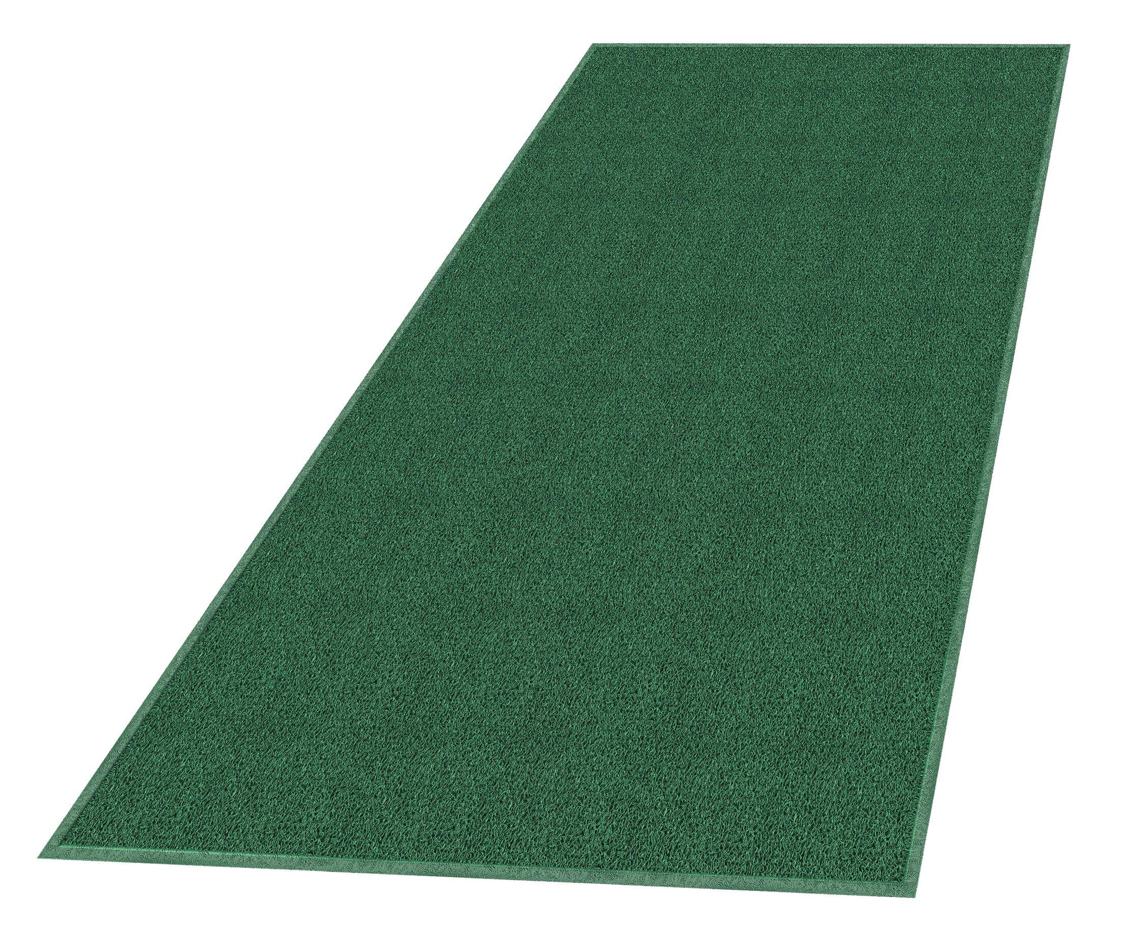 Solid Doormat Mat Size: Rectangle 4' x 6', Color: Leaf Green