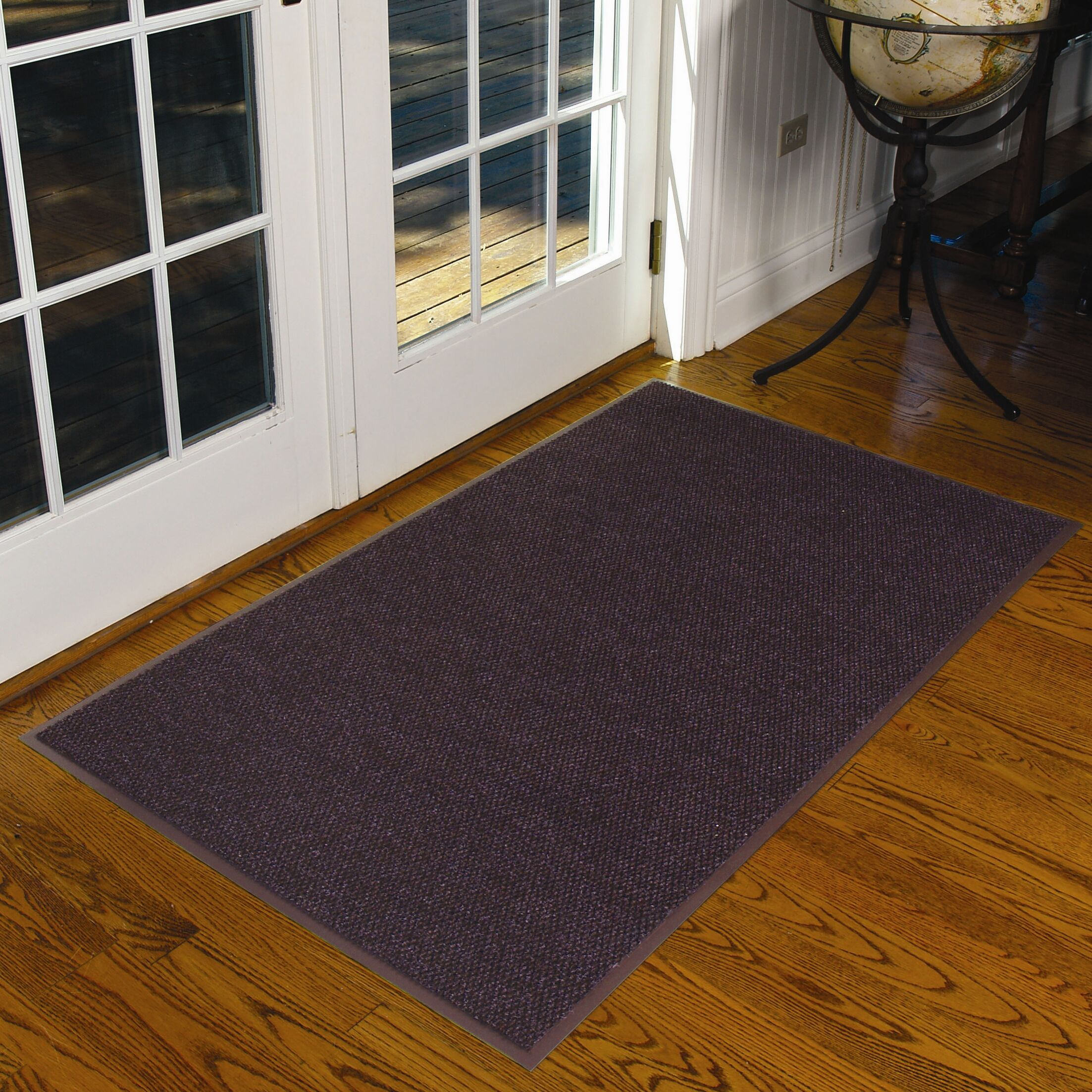 Polynib Solid Doormat Mat Size: Rectangle 3' x 5', Color: Brown