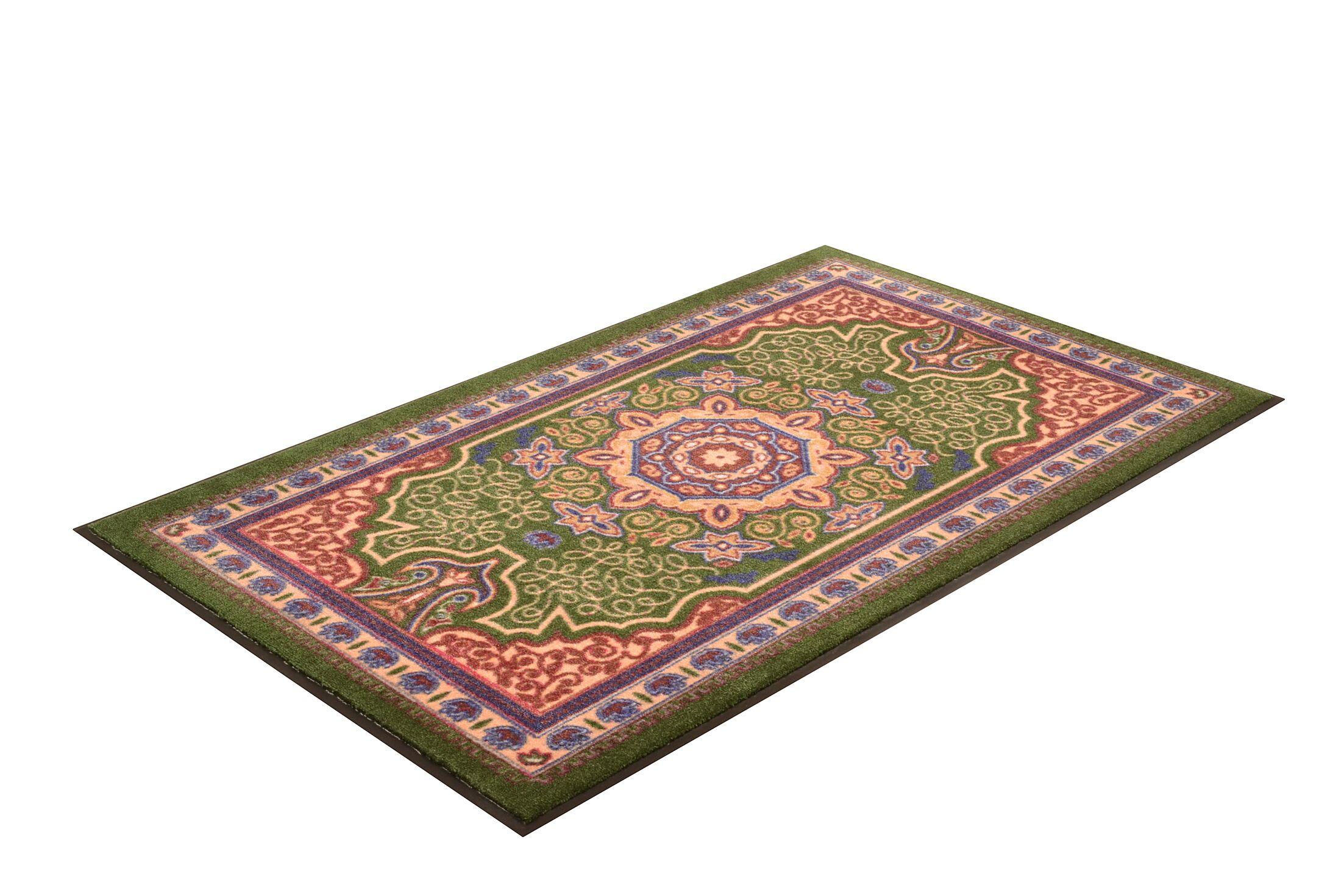Orientrax Doormat Mat Size: Rectangle 4' x 12', Color: Emerald