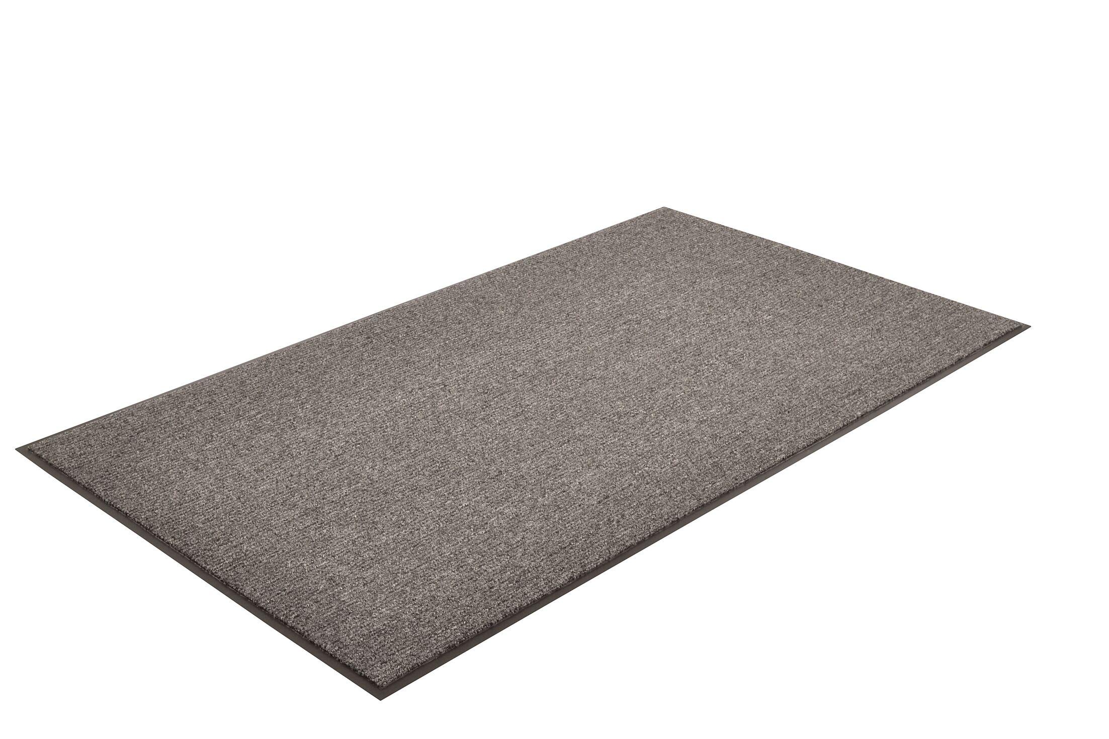 Solid Estes Doormat Color: Charcoal, Mat Size: Rectangle 4' x 8'