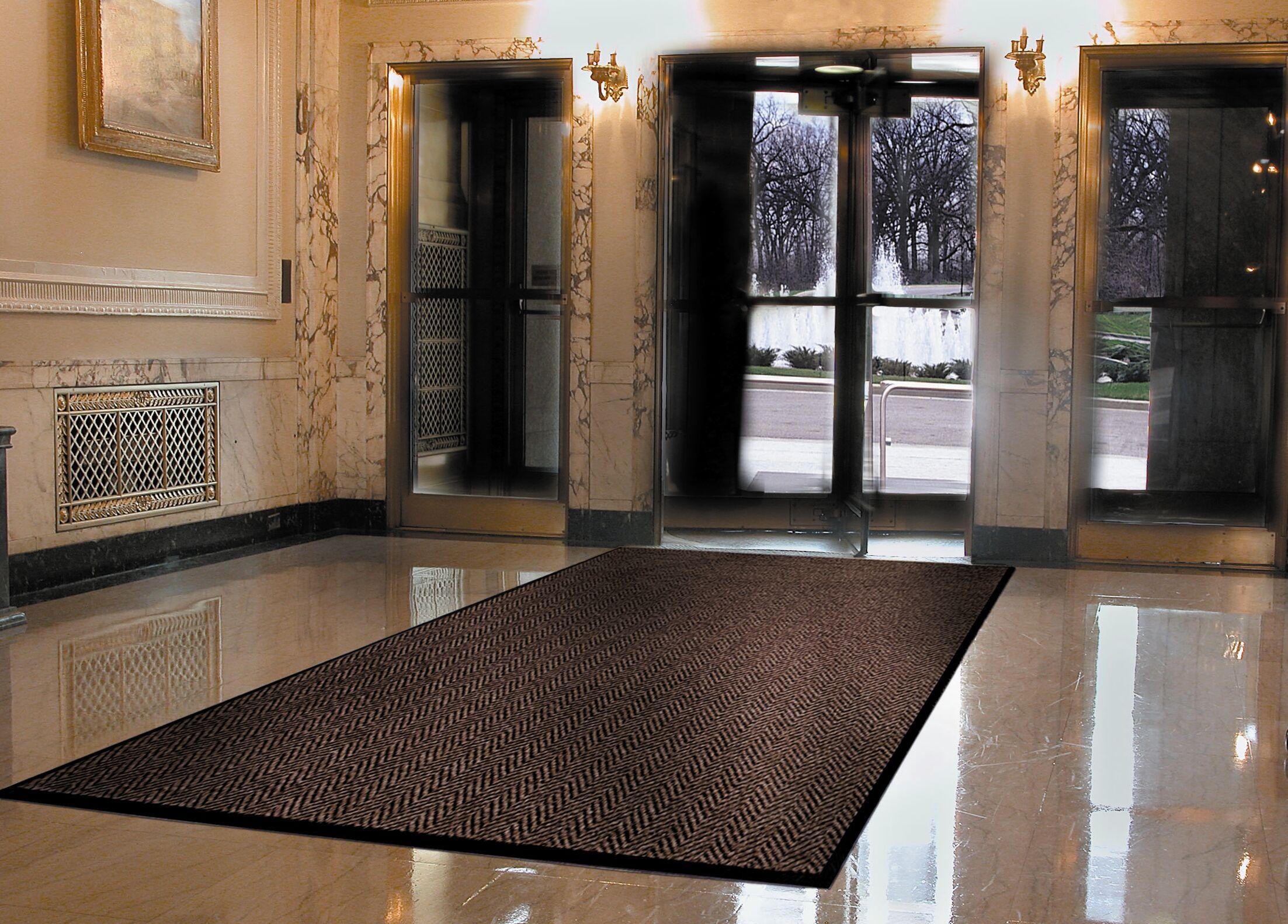 Arrow Trax Doormat Color: Autumn Brown, Mat Size: Rectangle 3' x 6'